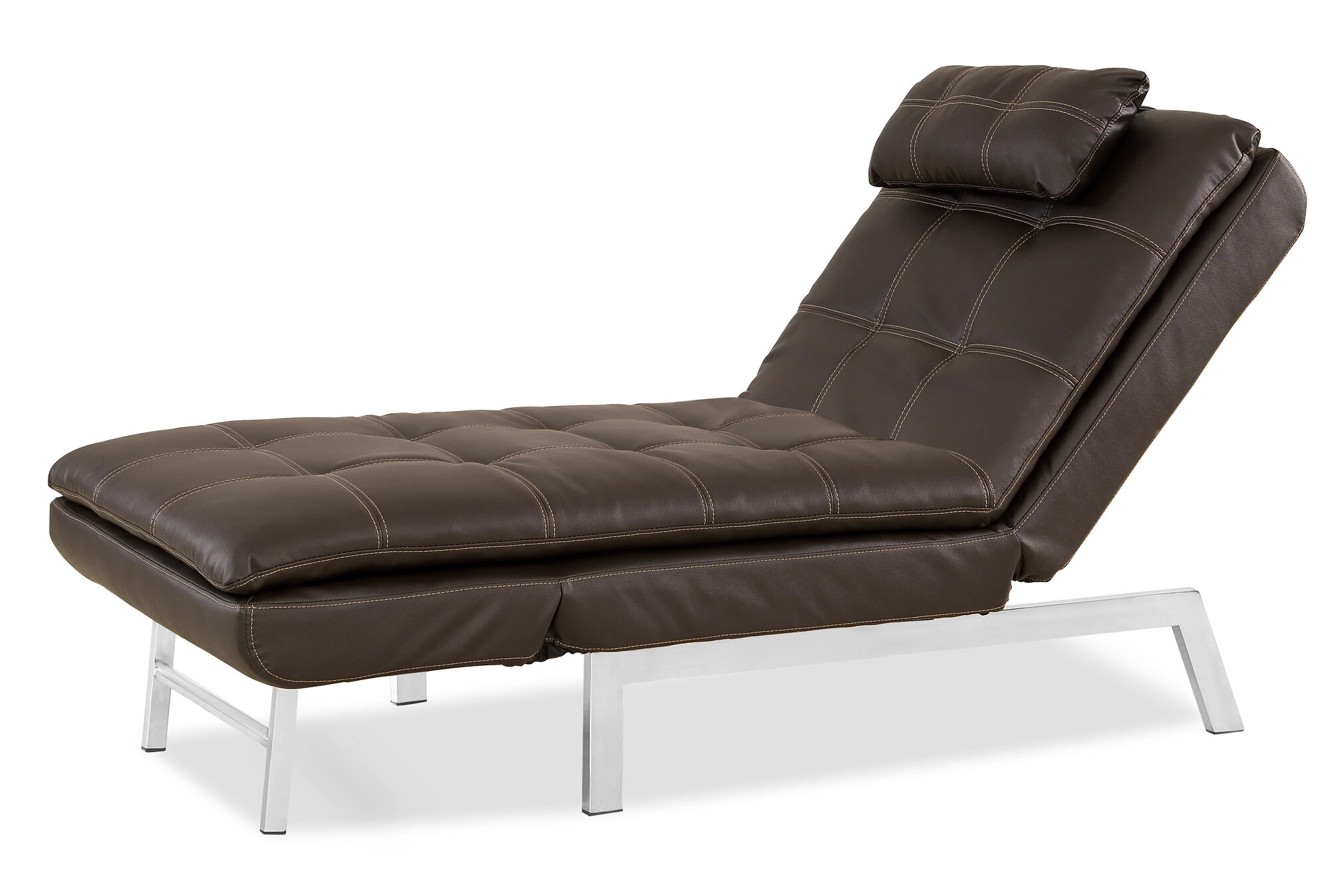 Serta futons vienna convertible chaise lounge ebay for Chaise futon lounger