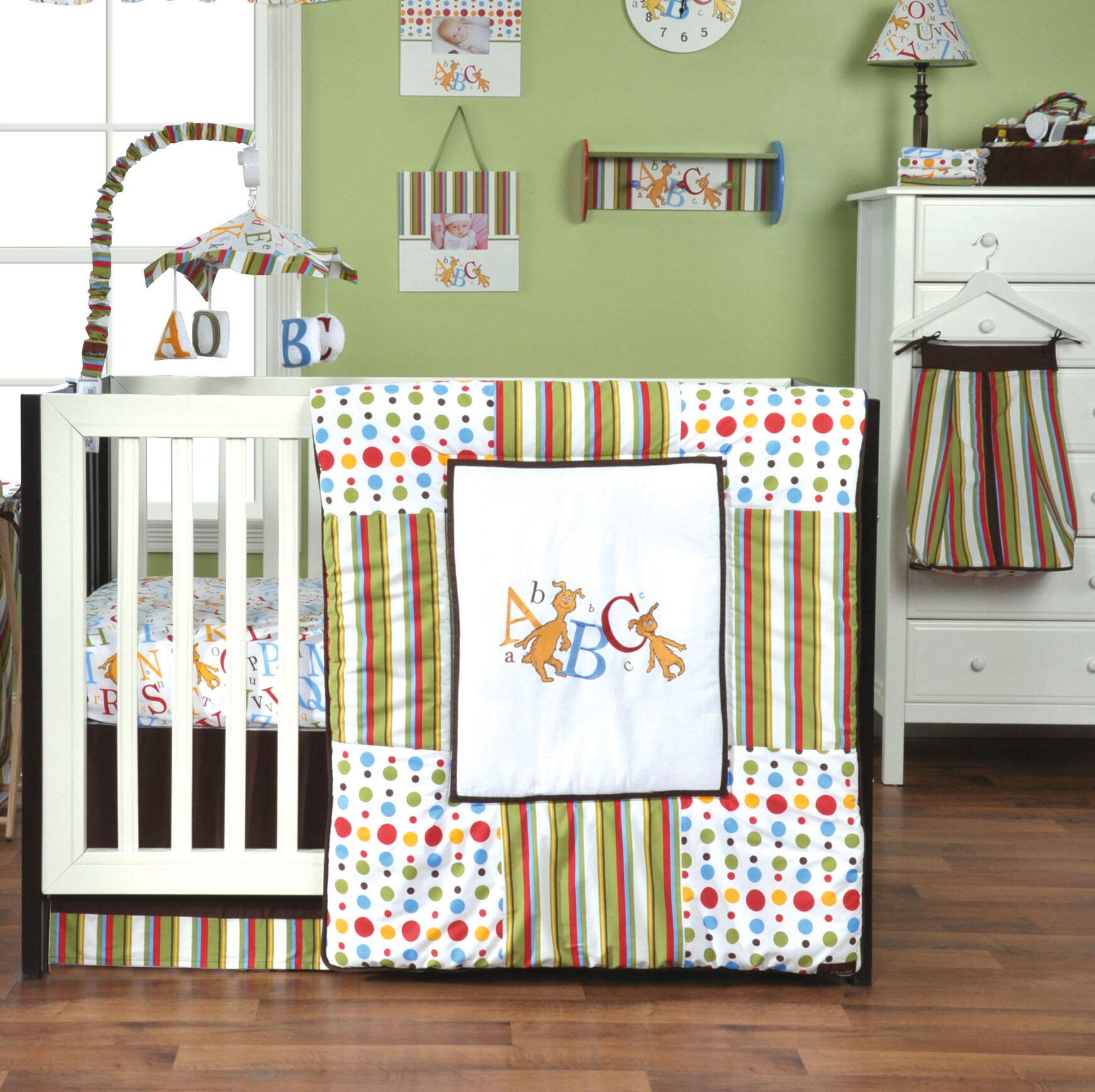 Trend Lab Dr Seuss Abc 3 Piece Crib Bedding Set Ebay
