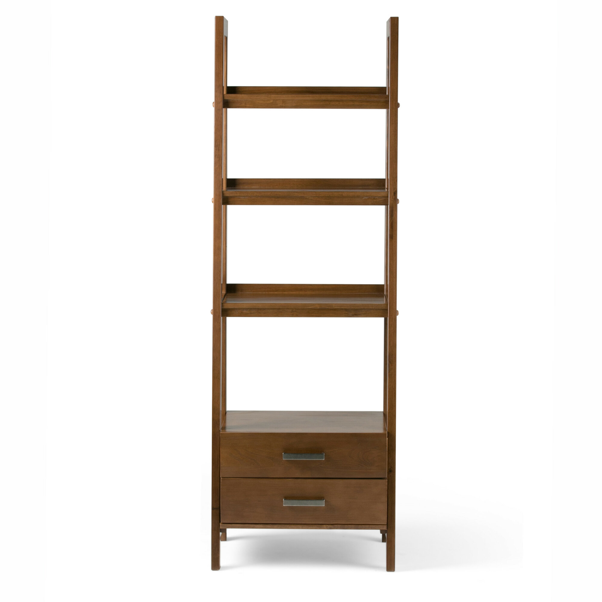 Simpli Home Sawhorse 72 Leaning Bookcase Qsi1532 Ebay
