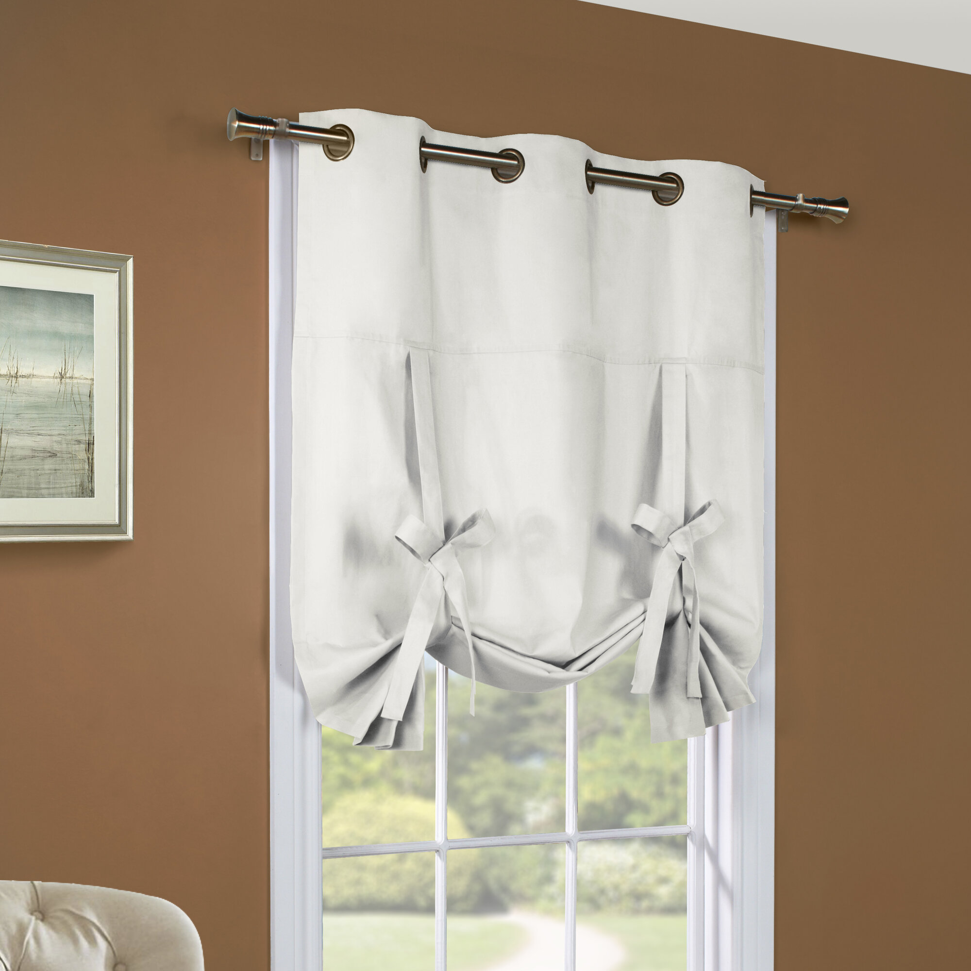 thermalogic weathermate grommet tie up single curtain