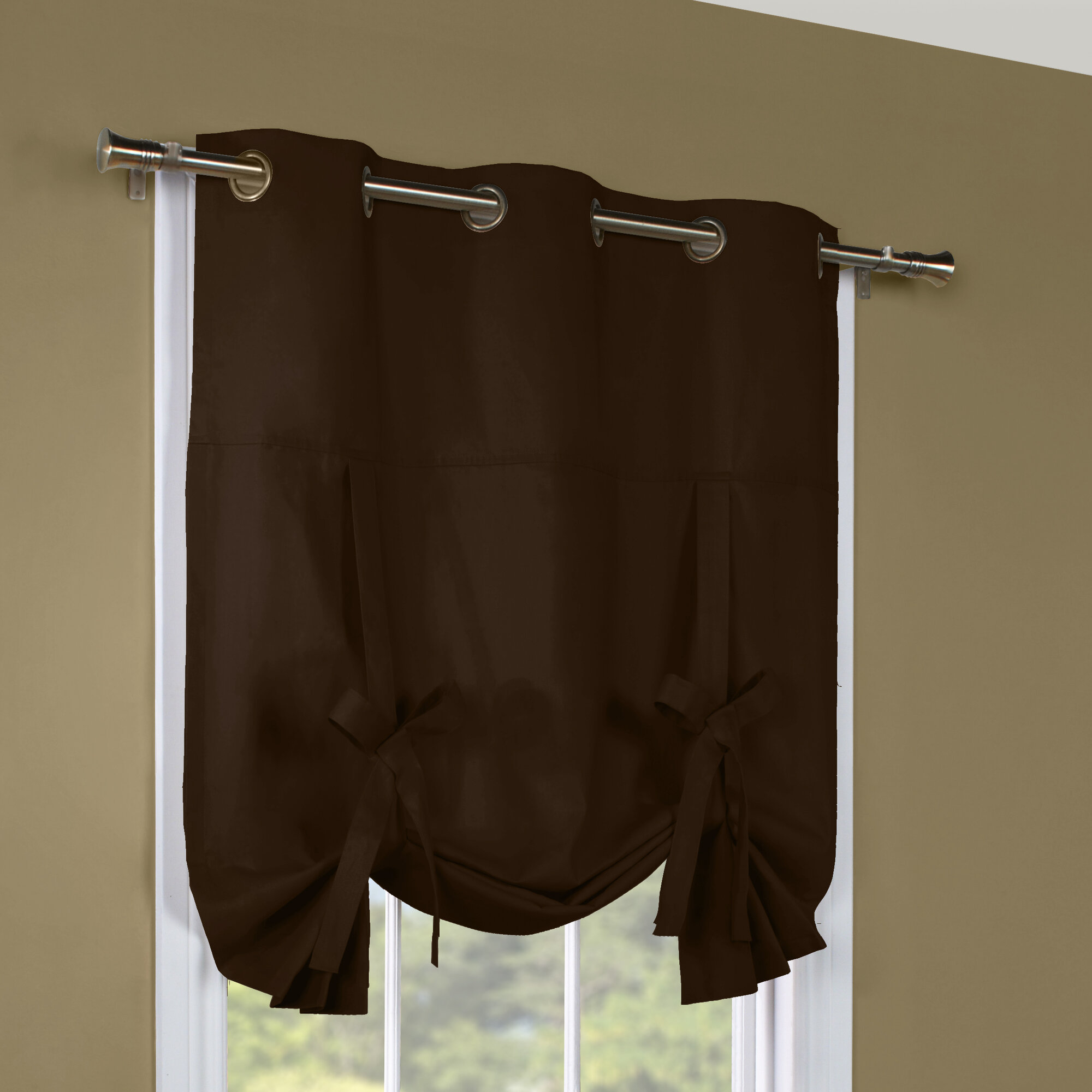 Thermalogic Weathermate Grommet Tie Up Curtain Panel