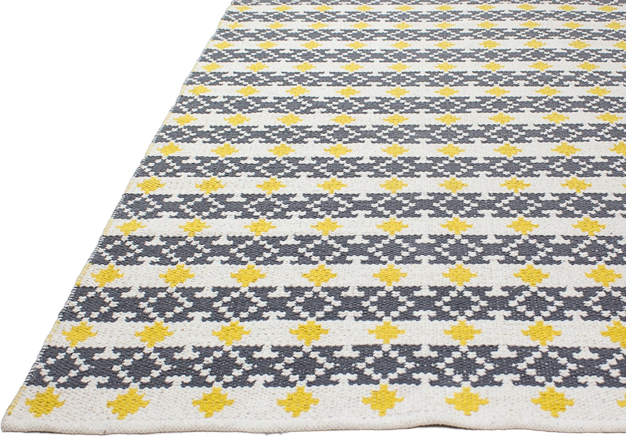 fab habitat estate hand woven yellow gray indoor outdoor area rug ebay. Black Bedroom Furniture Sets. Home Design Ideas
