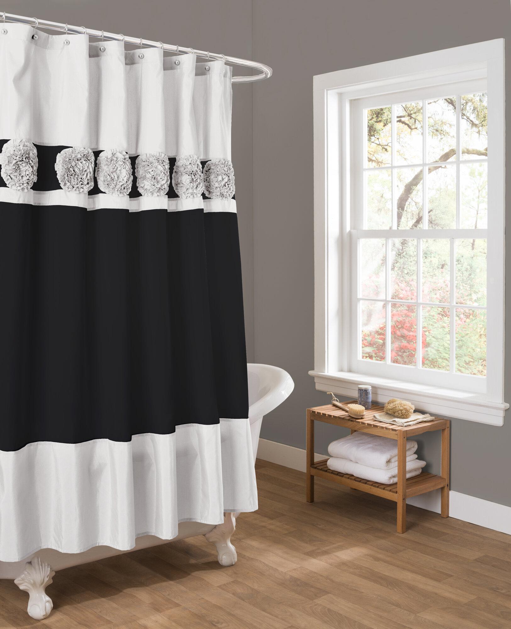 Special edition by lush decor seascape shower curtain ebay for Seascape bathroom ideas