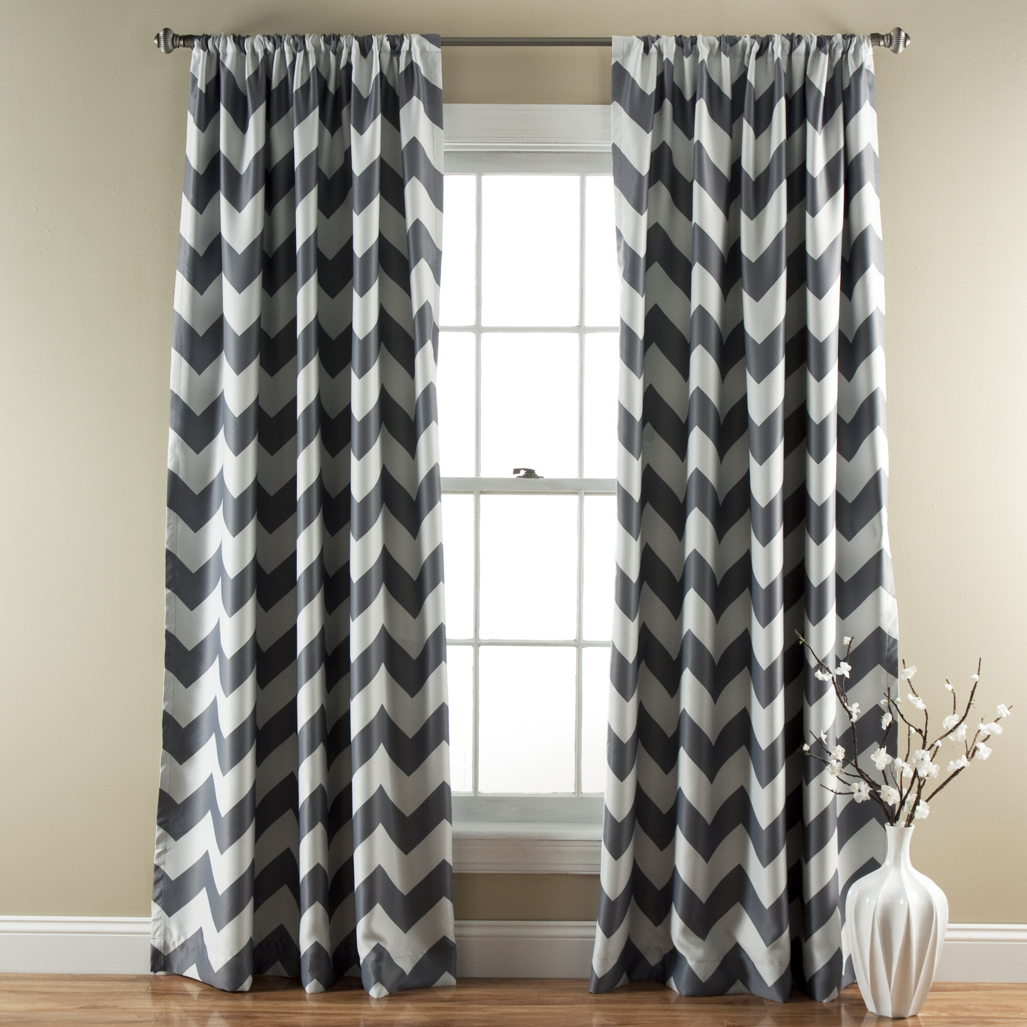 Special Edition by Lush Decor Chevron Blackout Curtain Panels