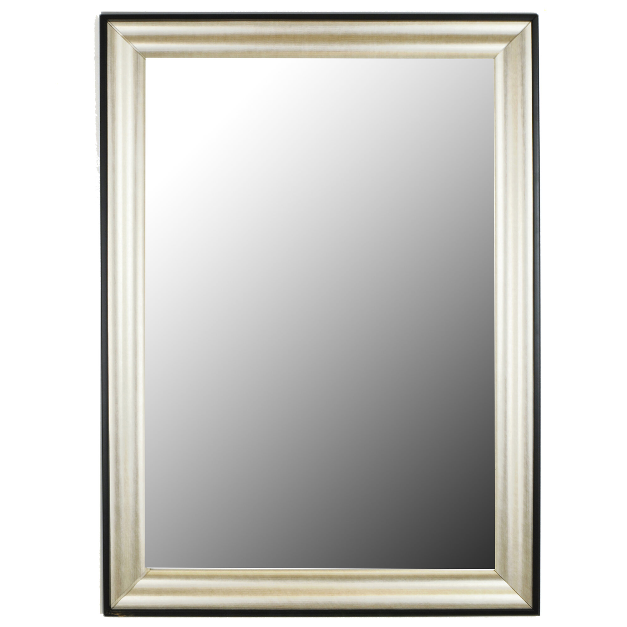 Second look mirrors silver rain black accent trim framed for Looking for wall mirrors