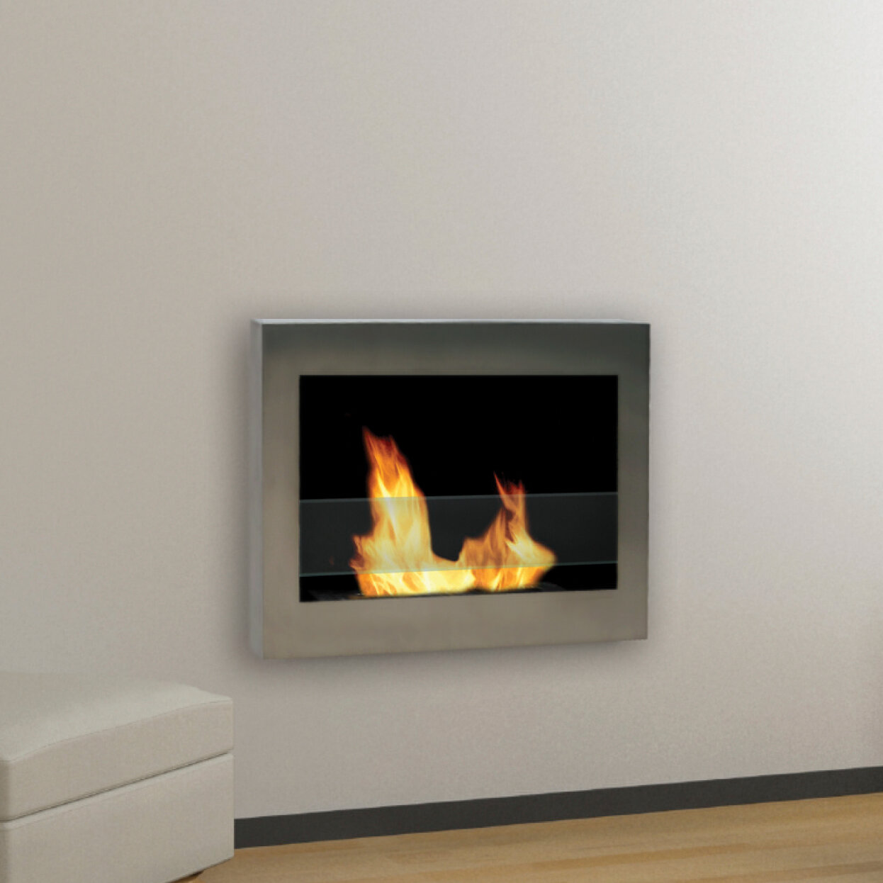 anywhere fireplaces soho wall mounted bio ethanol fireplace ebay. Black Bedroom Furniture Sets. Home Design Ideas