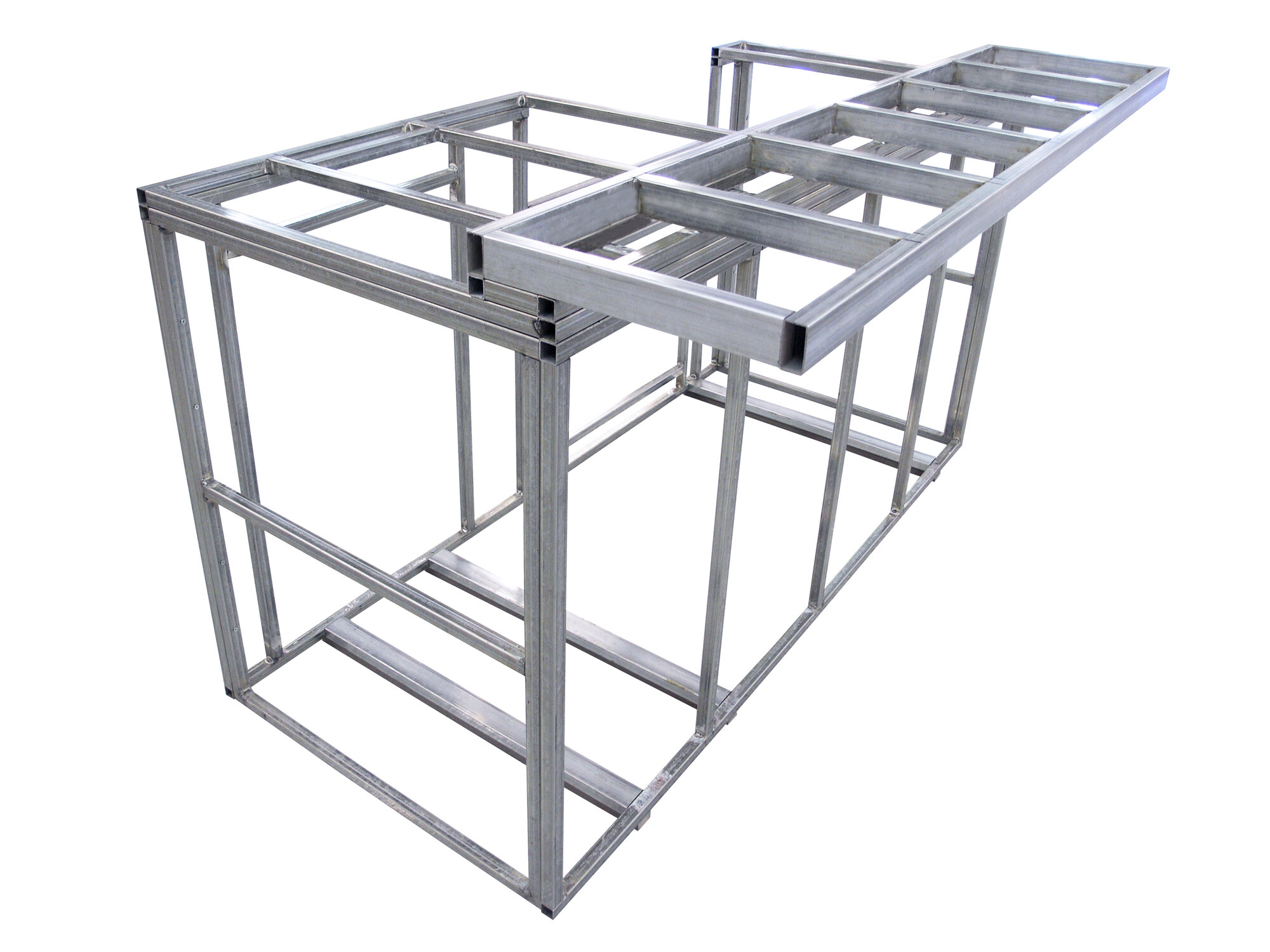 Calflame outdoor kitchen island with bartop frame kit ebay for Outdoor kitchen island kits