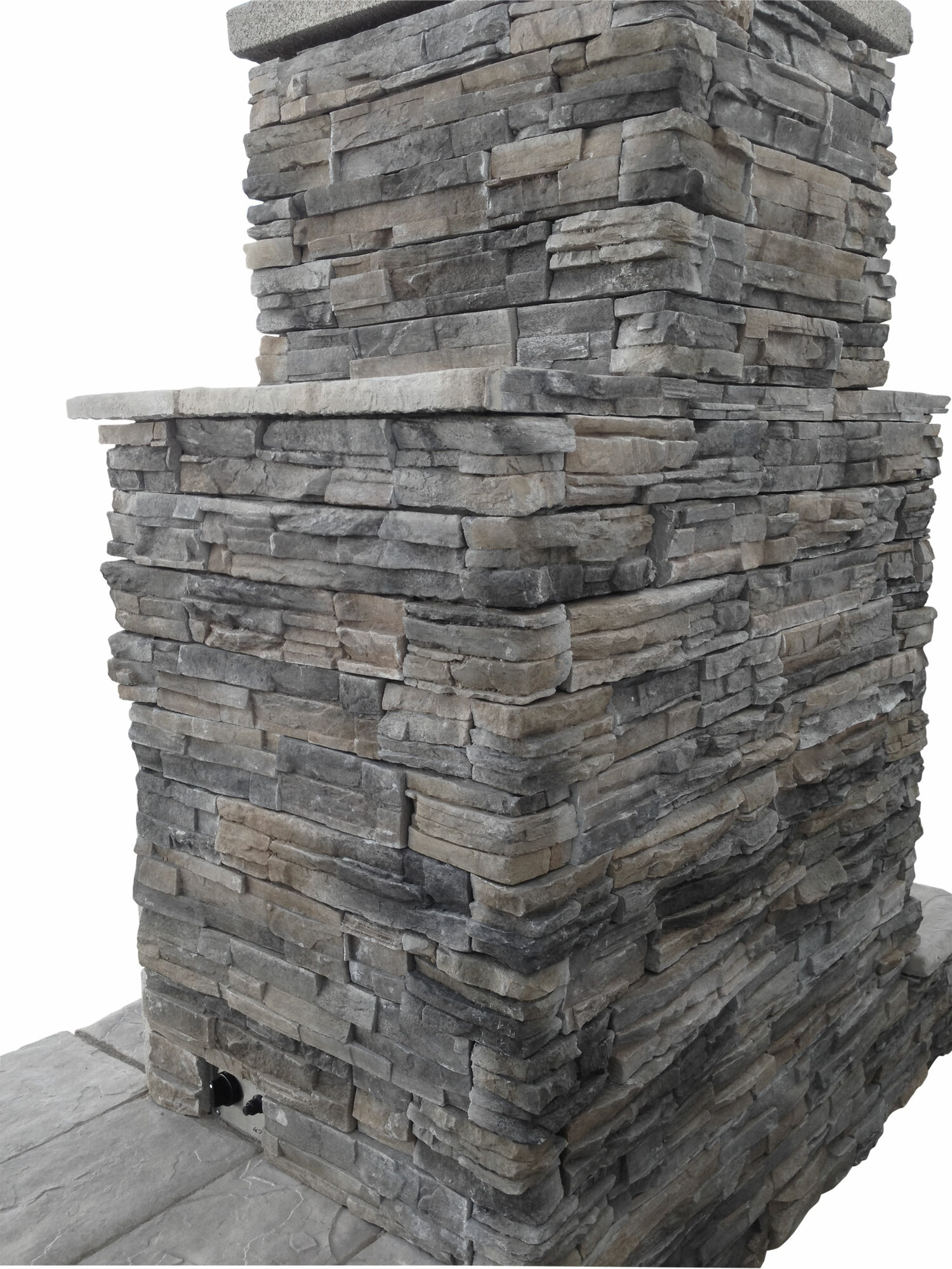 Calflame Natural Stone Propane Gas Outdoor Fireplace Fmn1068 Ebay