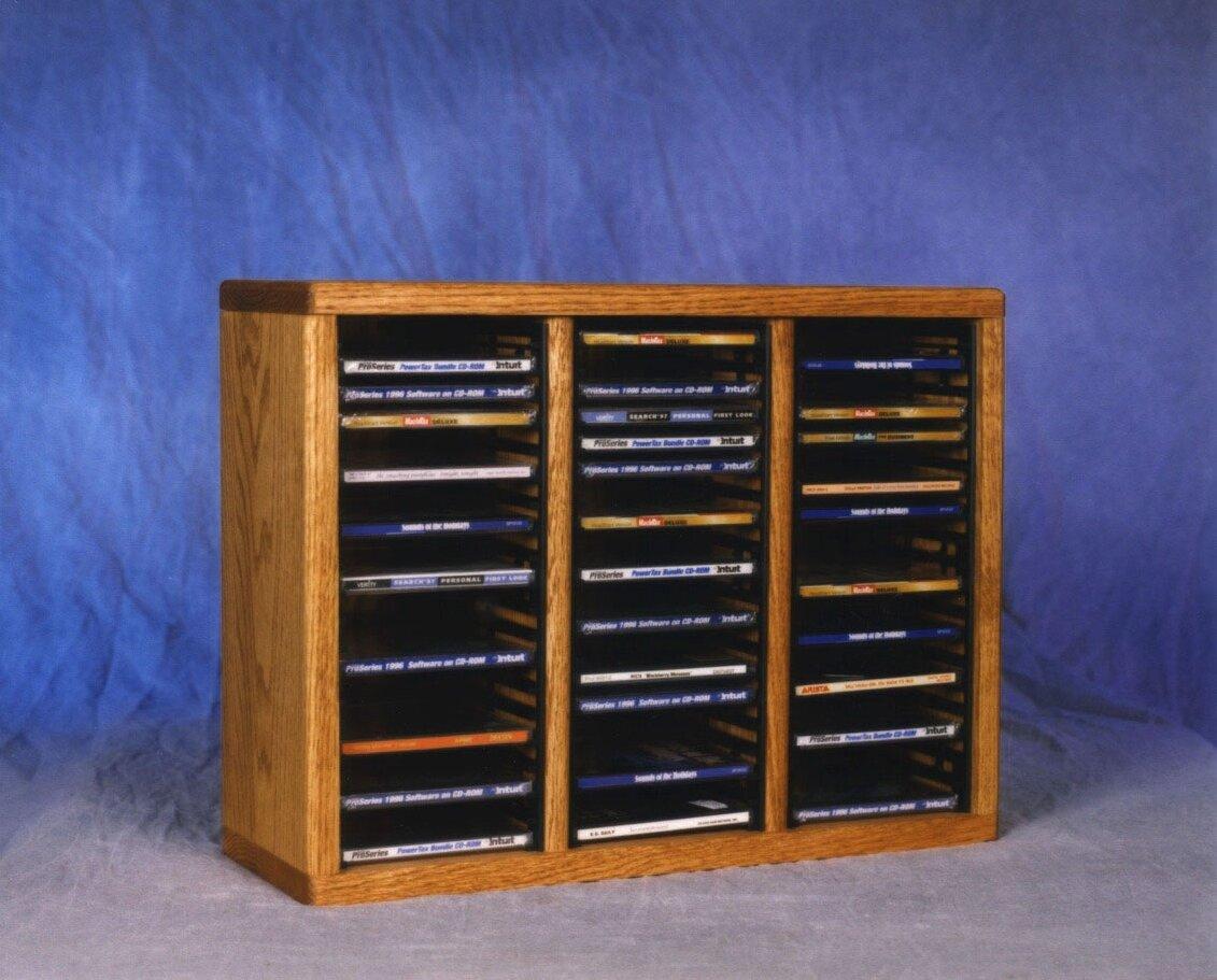 Wood shed series cd multimedia tabletop storage