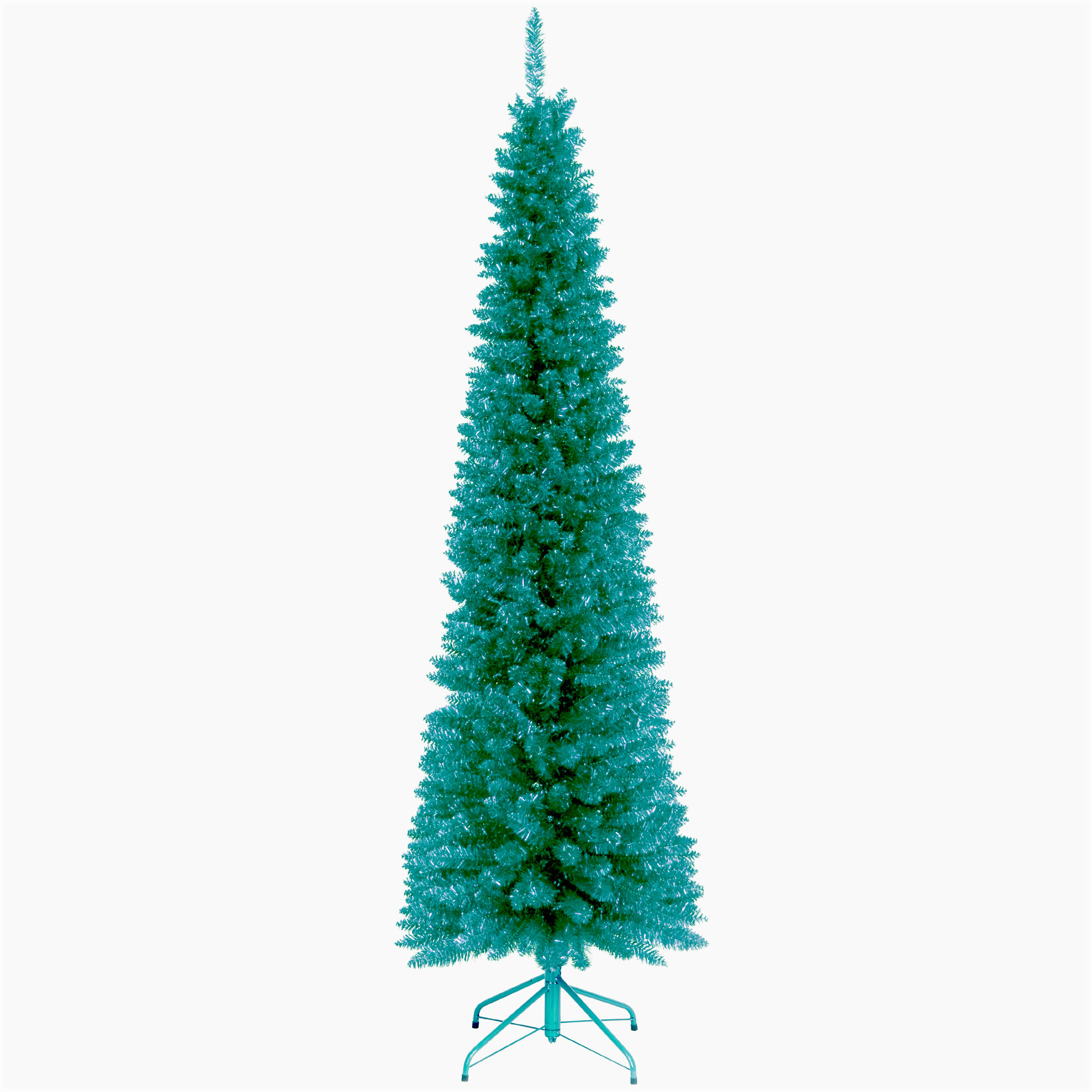 Tinsel trees turquoise artificial christmas tree
