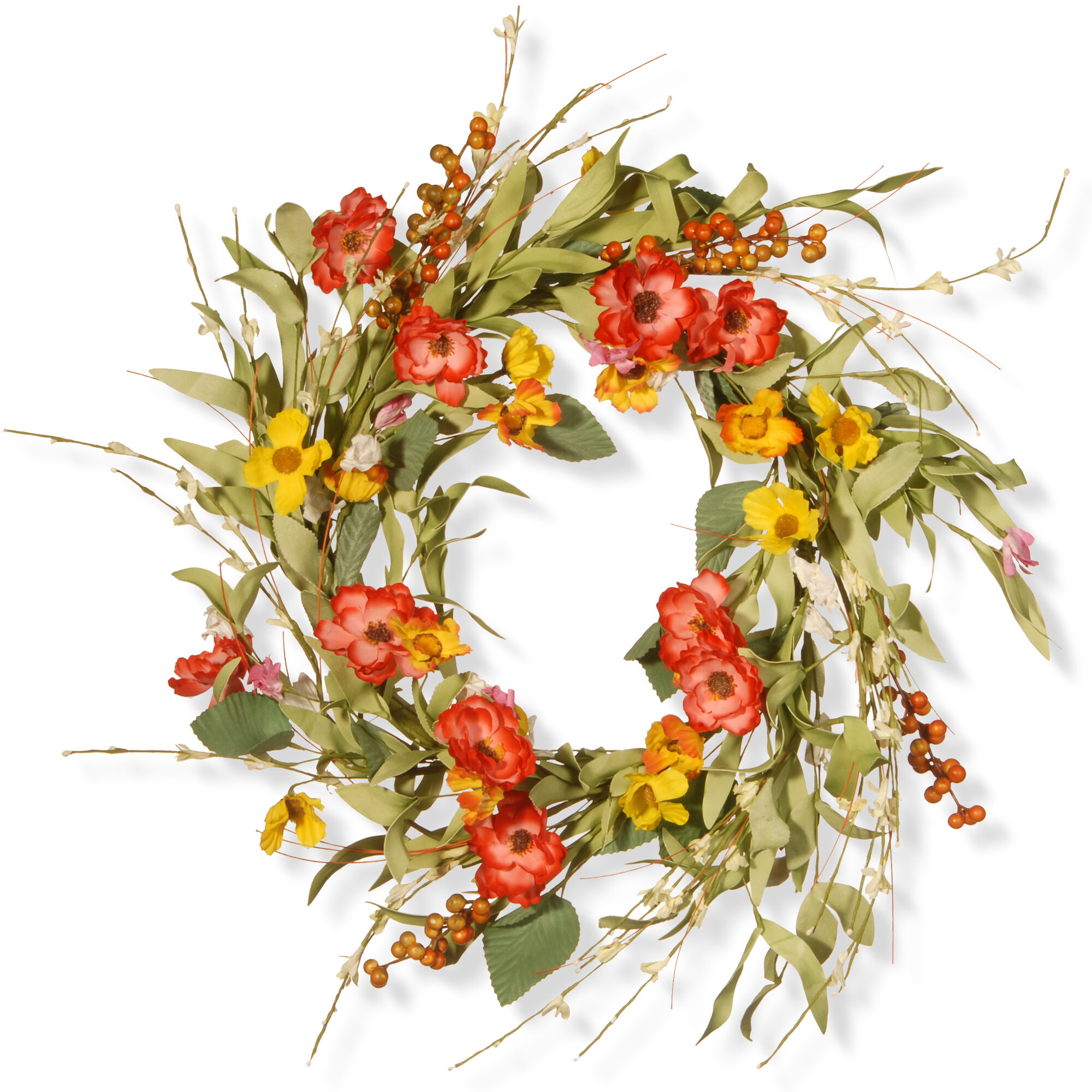 Elegant Dried Flower Wreath/ Spring Wreath/ Floral Wreath/ |Spring Flower Wreath