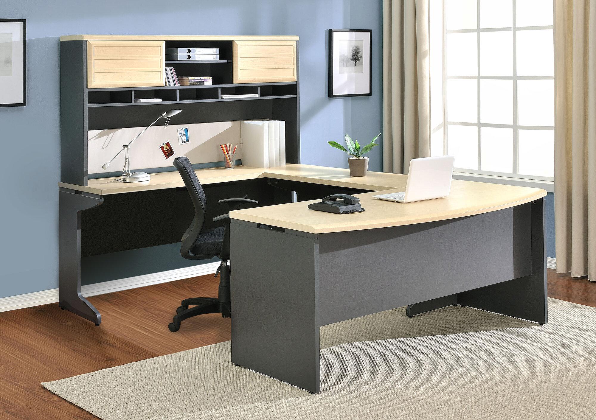 Details about Altra Furniture Benjamin U-Shape Desk Office Suite