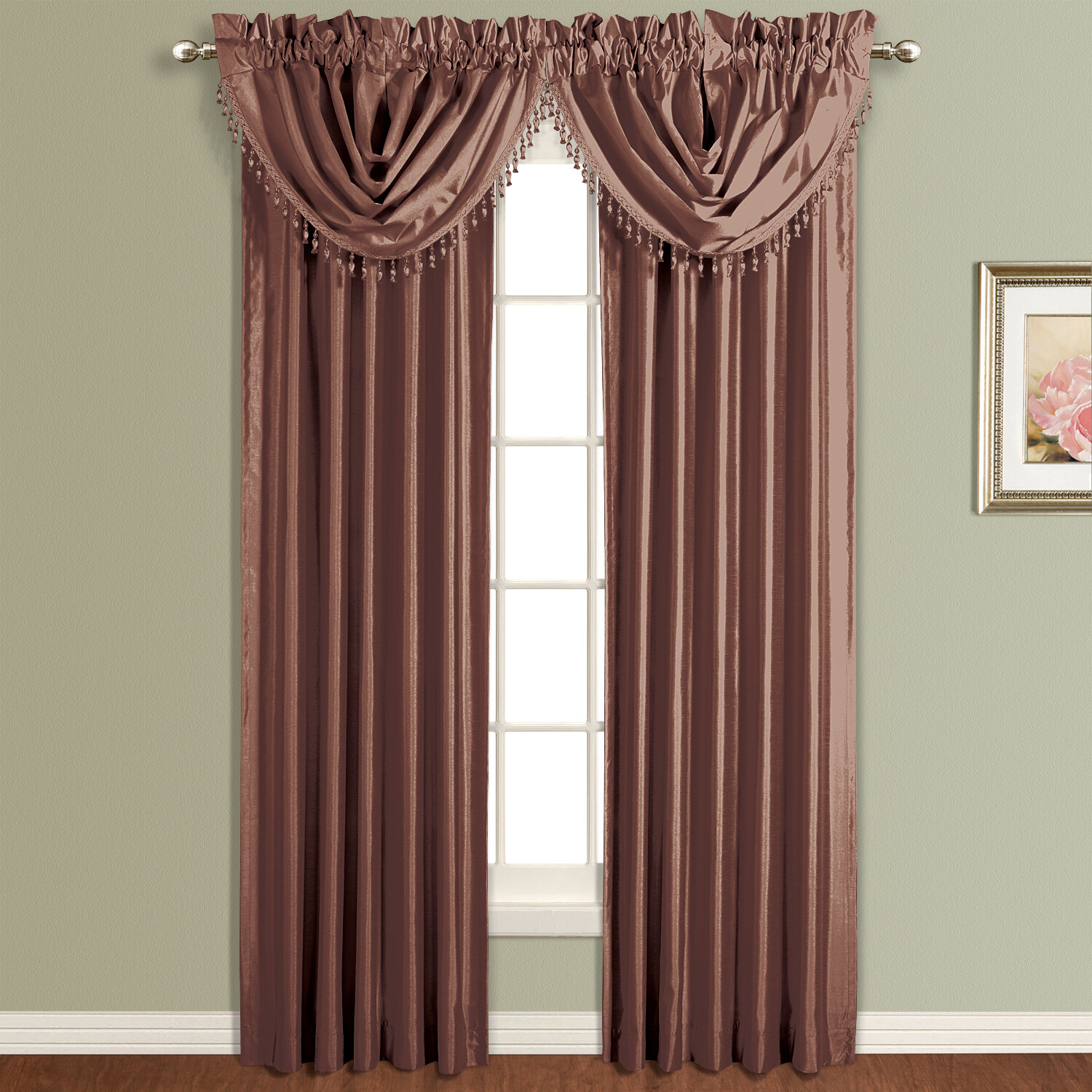 United Curtain Co Anna Waterfall 50 Curtain Valance Ebay