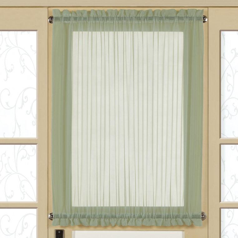 United Curtain Co Monte Carlo Door Rod Pocket Curtain Panel