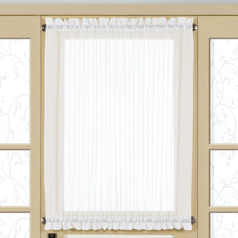 United Curtain Co Monte Carlo Door Rod Pocket Single