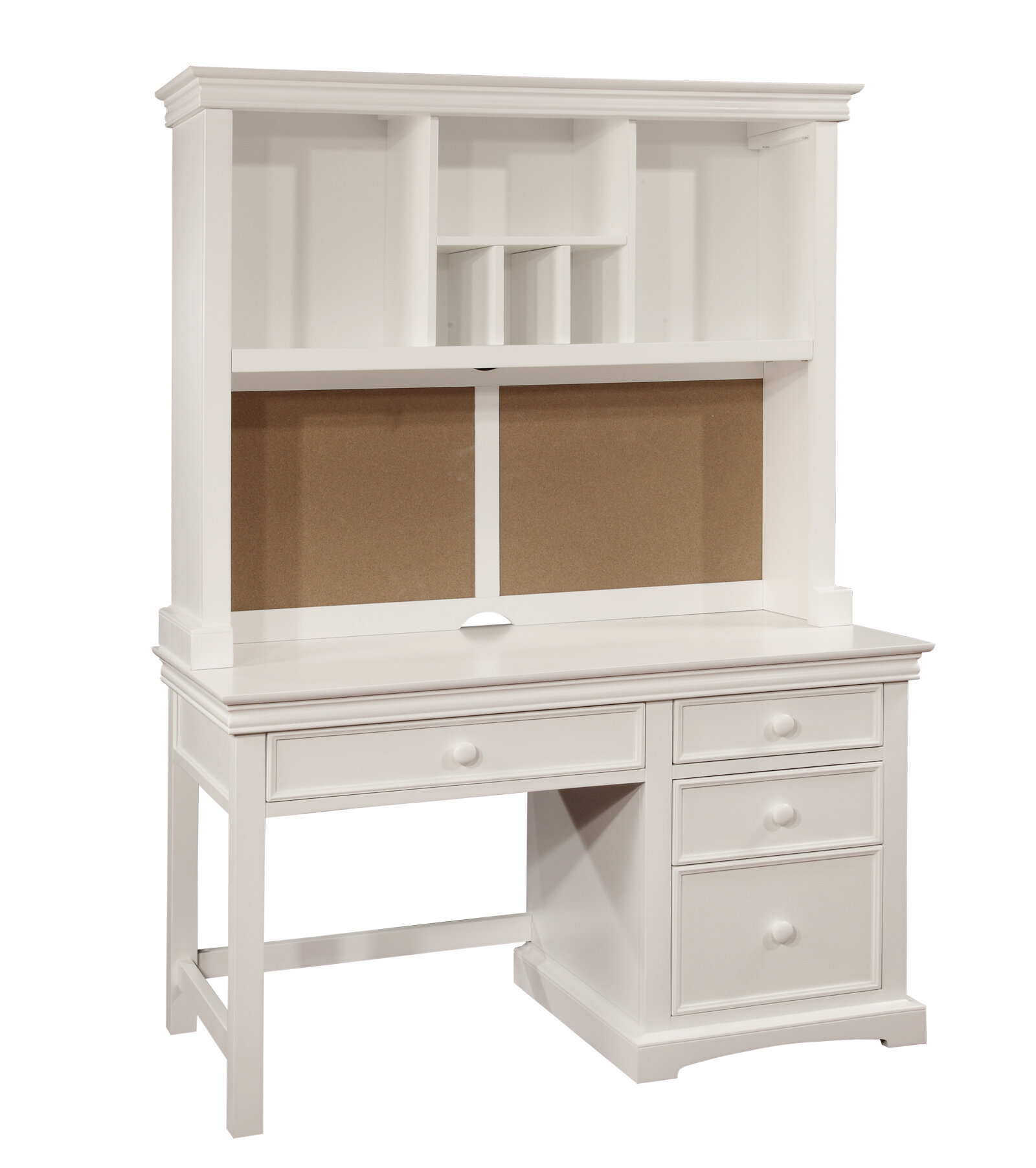 bolton furniture cambridge wood pedestal desk with hutch and 4 drawers ebay