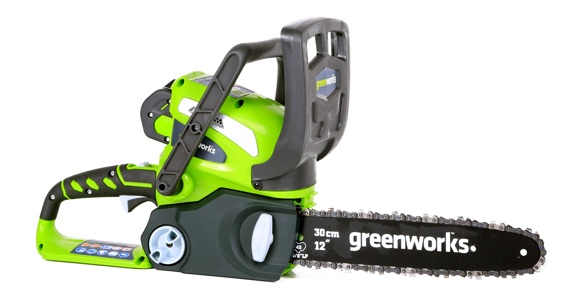 """Greenworks Tools Gmax 12"""" 40 Volt Cordless Chainsaw ..."""
