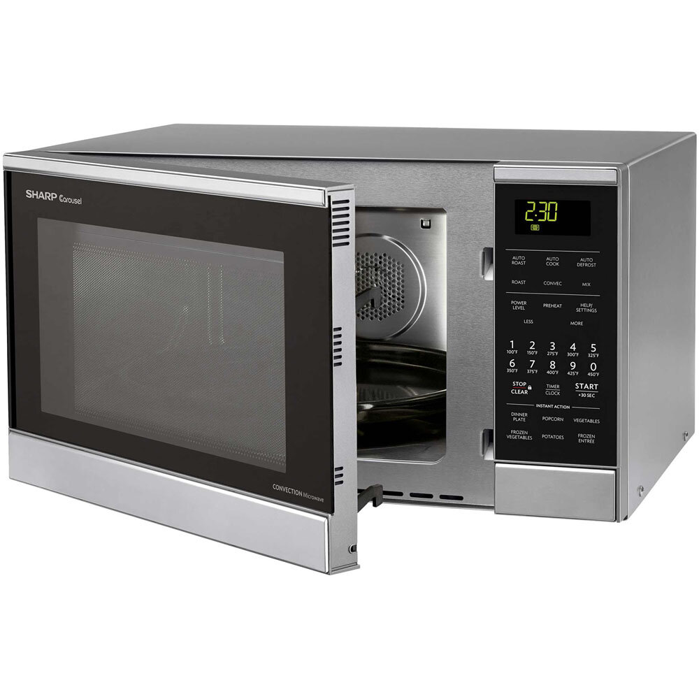 ... about Sharp 0.9 Cu. Ft. 900W Countertop Microwave Stainless Steel