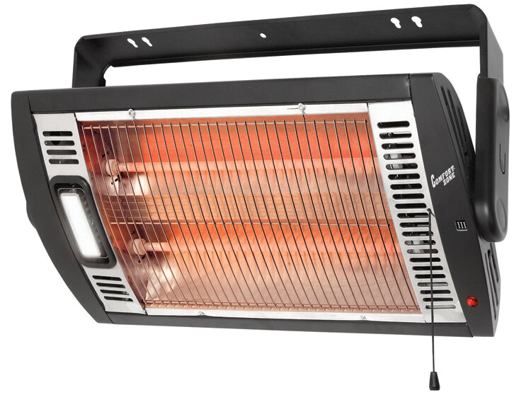 How To Light Your Wall Heater : Comfort Zone 760 Watt Ceiling Mounted Electric Fan Wall Insert Heater with Light eBay