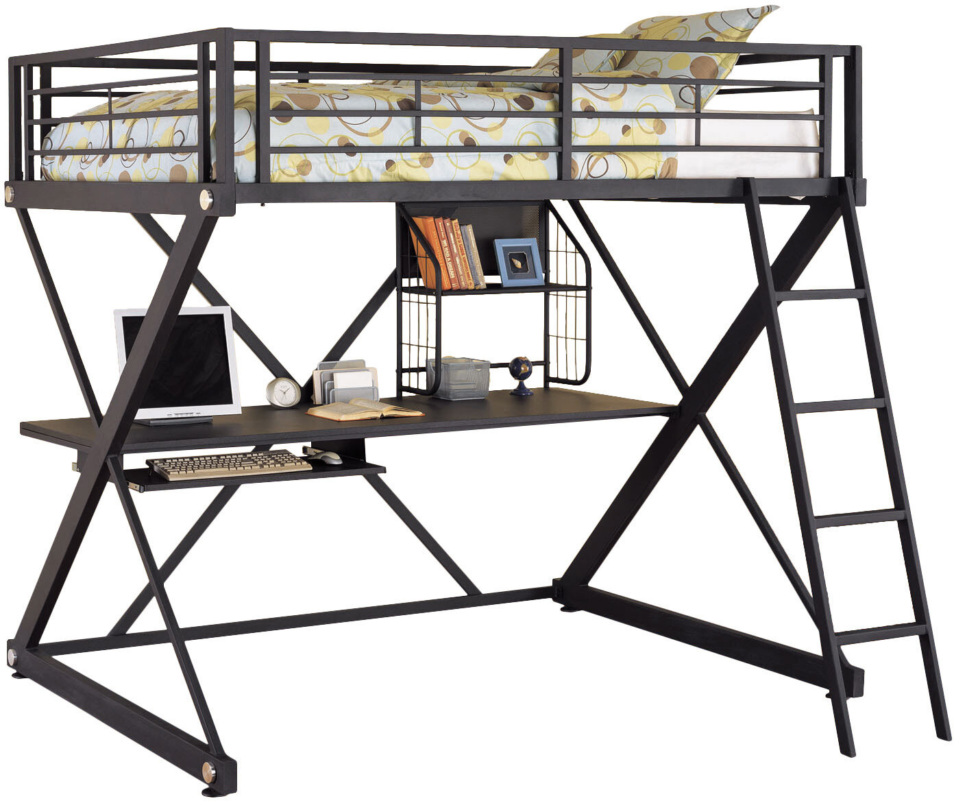 Powell furniture z bedroom full over full loft bed ebay for Powell z bedroom furniture