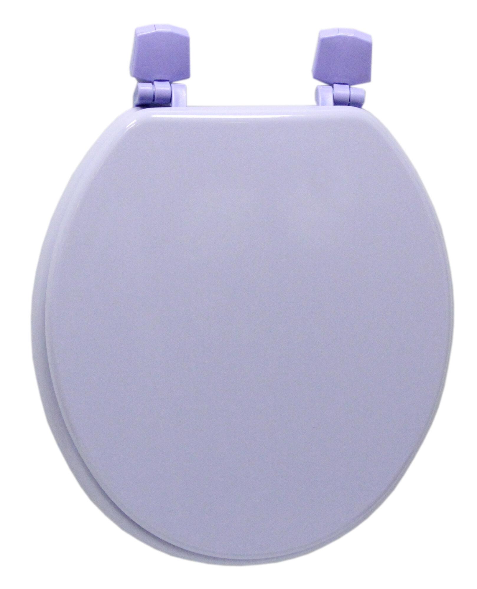 Trimmer Molded Wood Round Toilet Seat Corn Flower Purple EBay