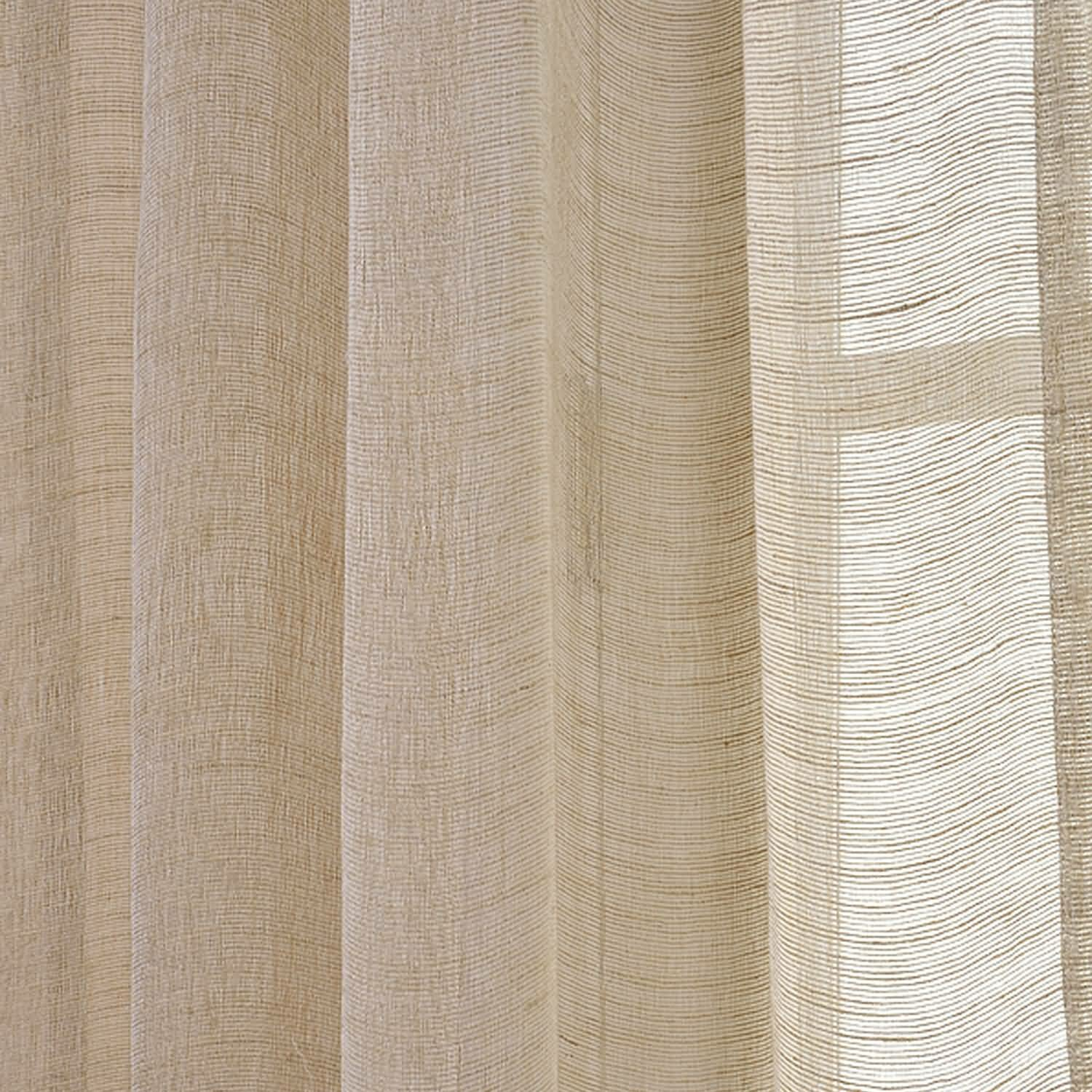 Sheer curtain texture - Half Price Drapes Open Weave Linen Sheer Curtain