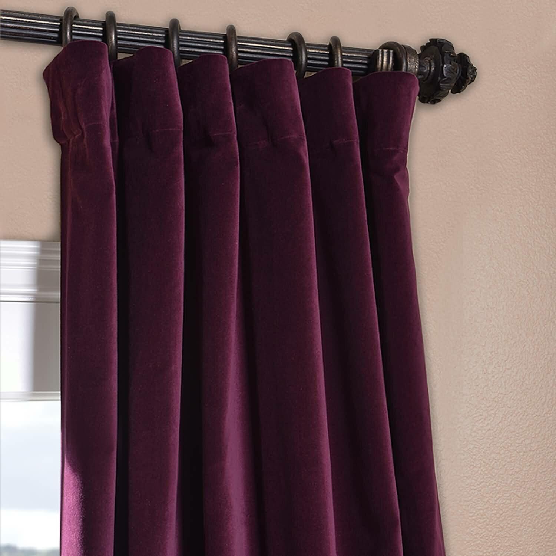 Half Price Drapes Vintage Cotton Velvet Curtain Panel Ebay