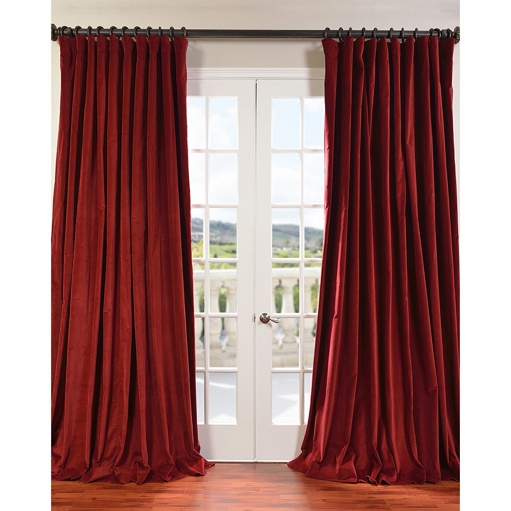 Halfpriced Drapes: Half Price Drapes Doublewide Vintage Velvet Curtain Panel