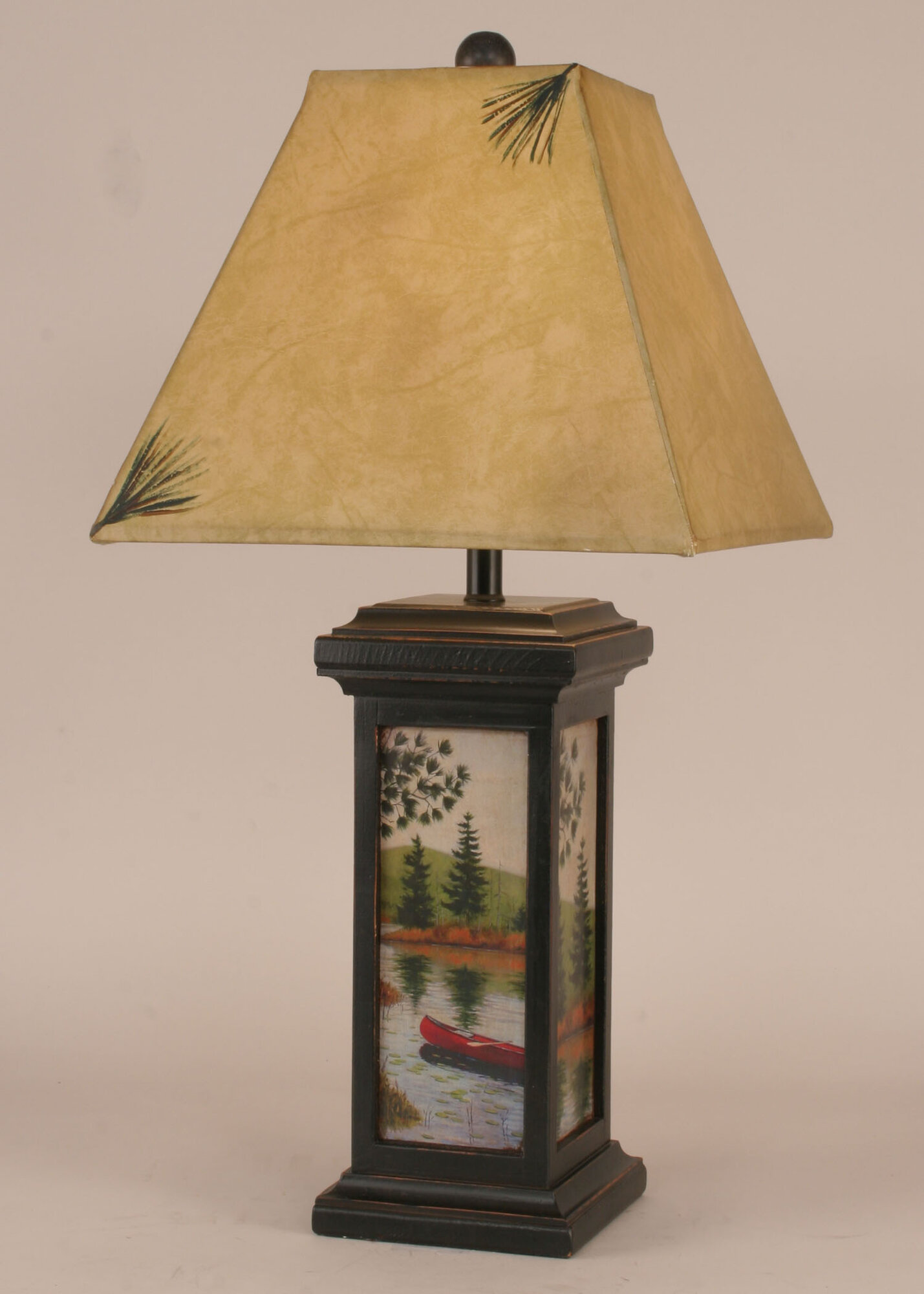 "Coast Lamp Mfg. Rustic Living Small Square Pot 28.5"" Table"