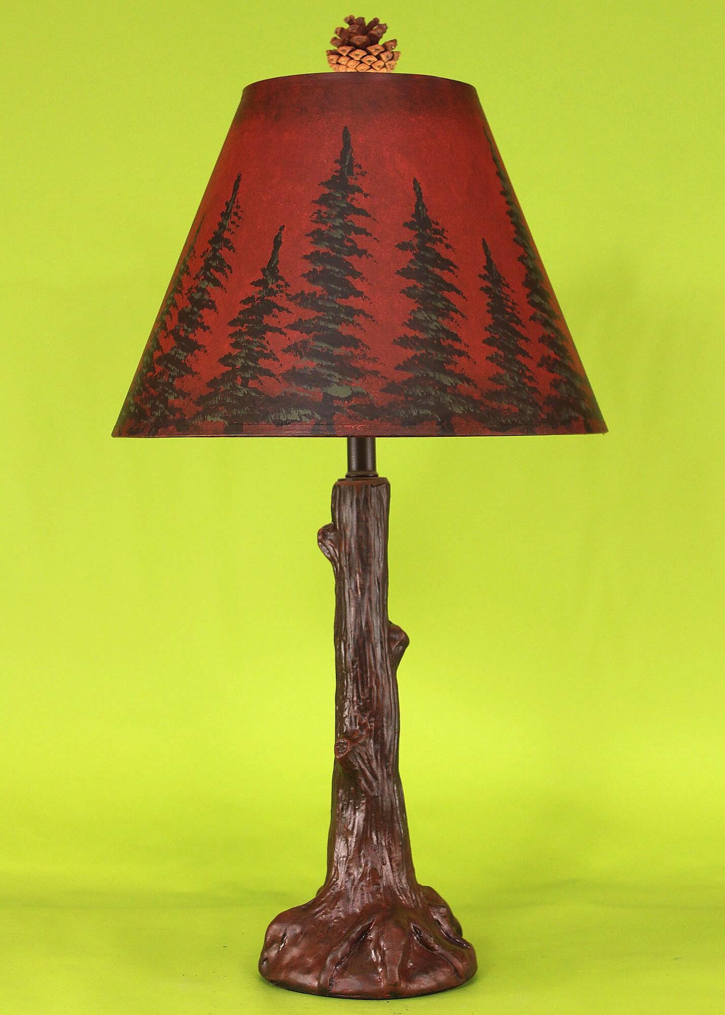 coast lamp mfg rustic living tree trunk 27 table lamp ebay. Black Bedroom Furniture Sets. Home Design Ideas