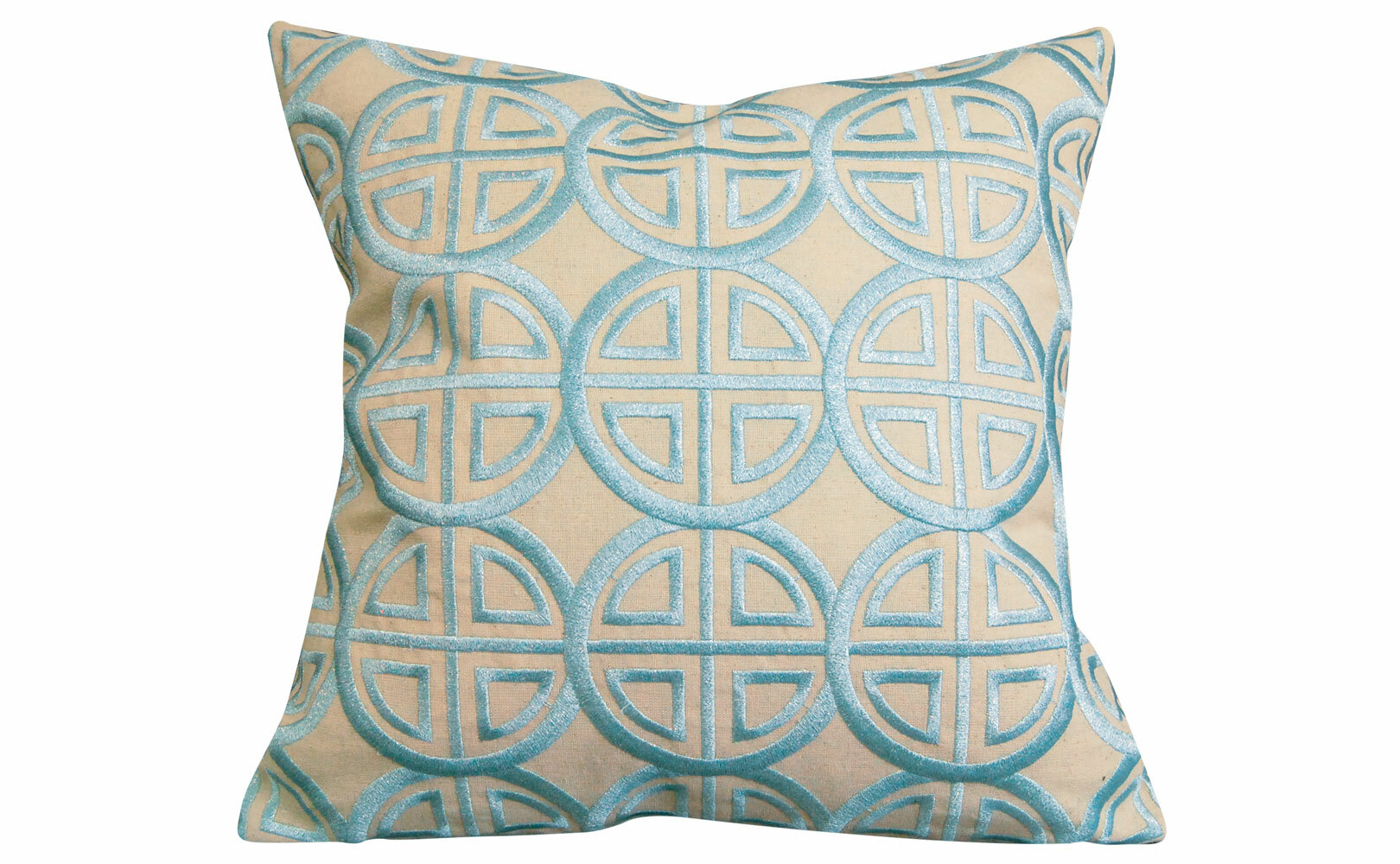 Modern Embroidered Throw Pillow : Rightside Design Modern Embroidered Medallion Throw Pillow eBay
