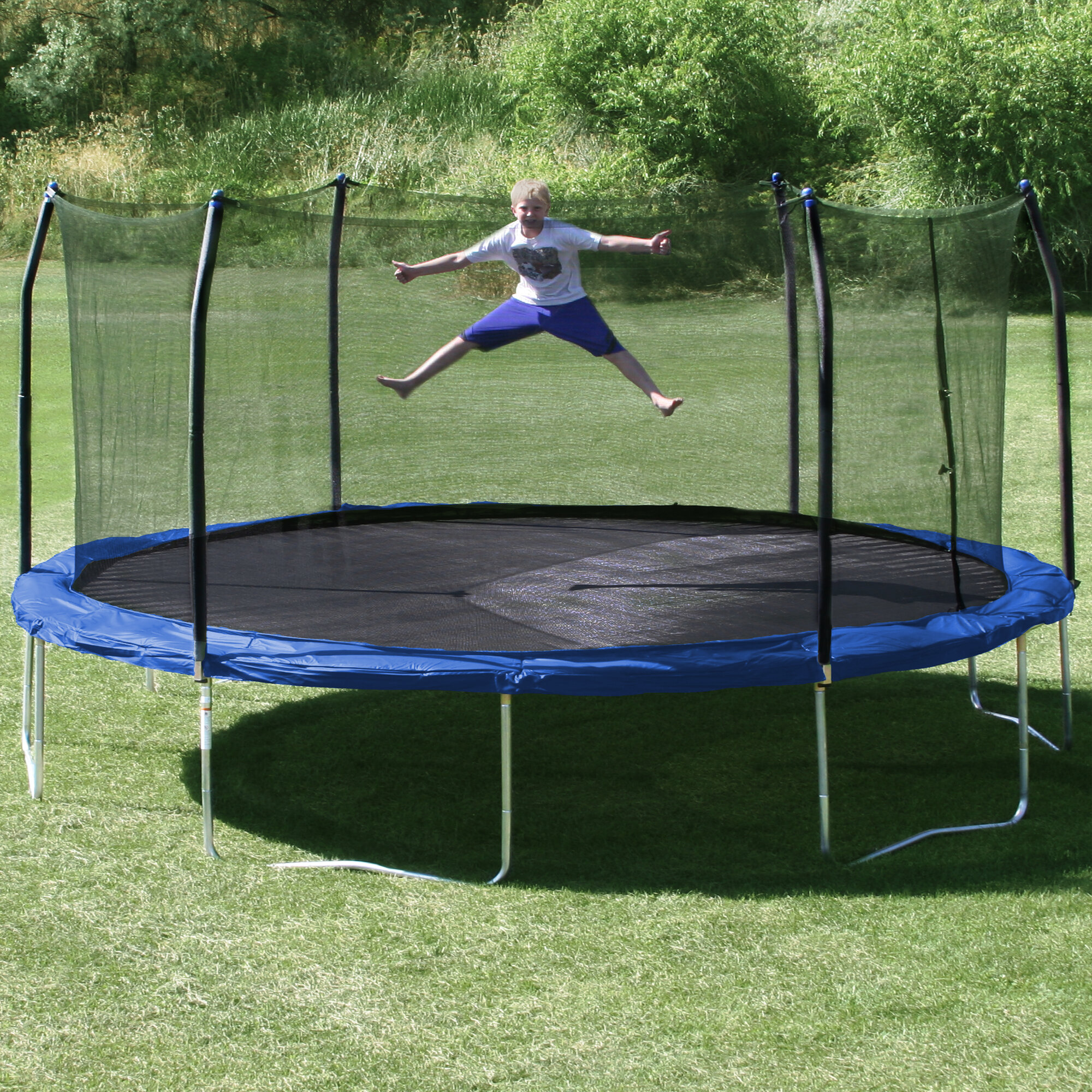 Skywalker Trampolines 17x15: Skywalker Trampolines 17' X 15' Oval Trampoline With