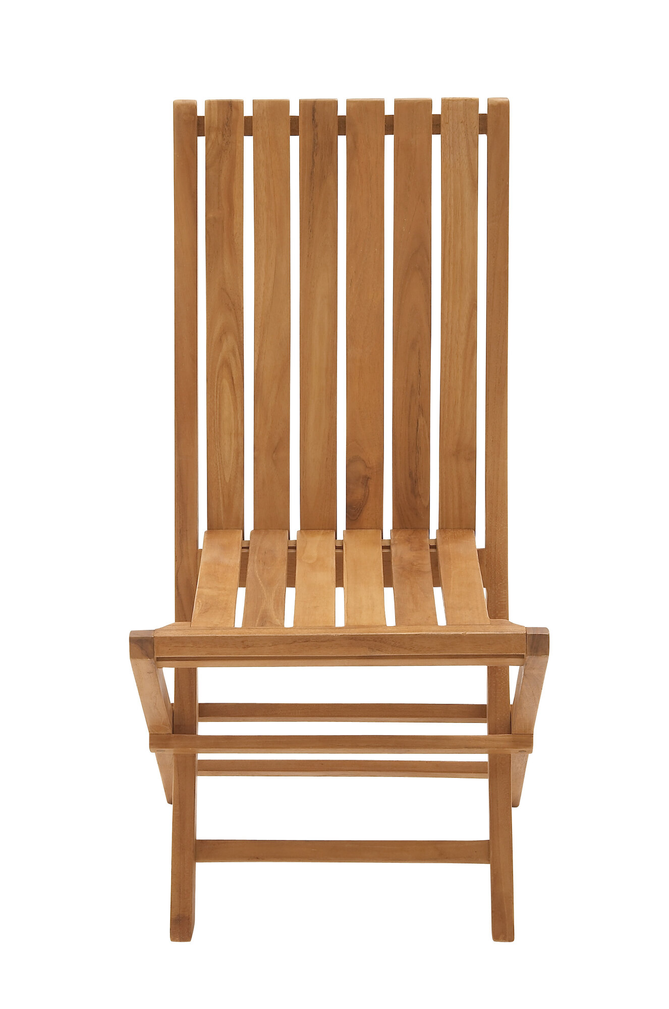 Woodland Imports Portable And Useful Wood Teak Folding Chair EBay
