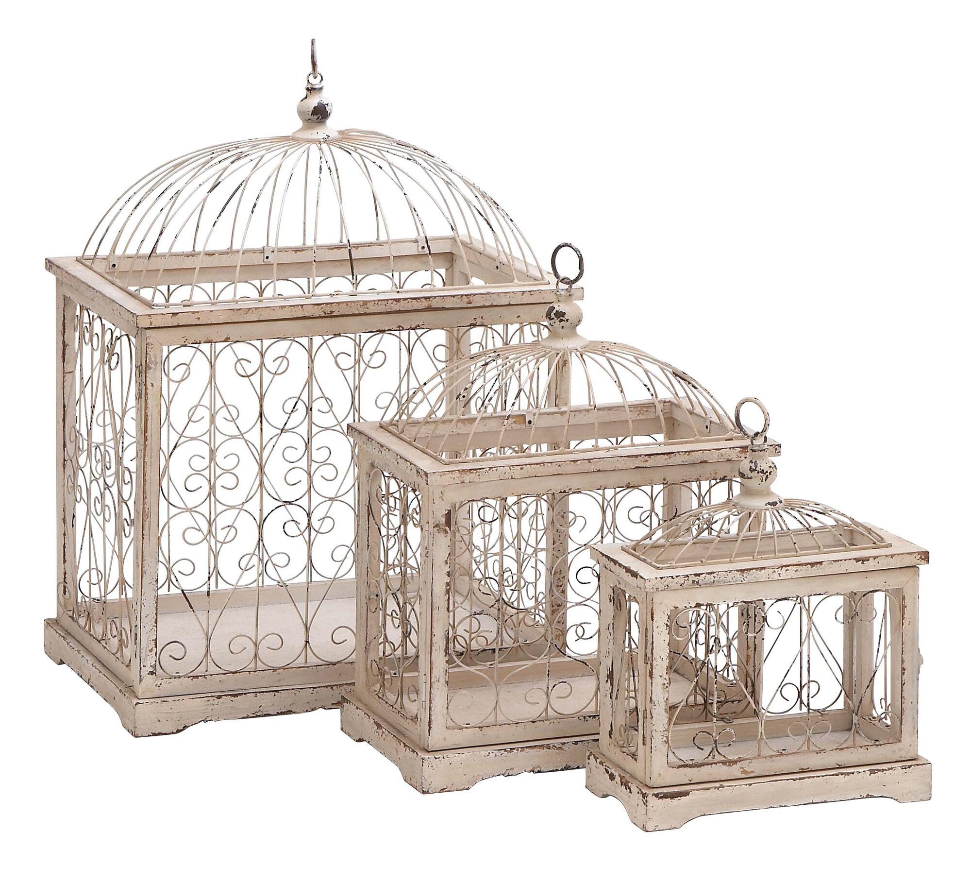 Woodland Imports 3 Piece Decorative Bird Cage  eBay