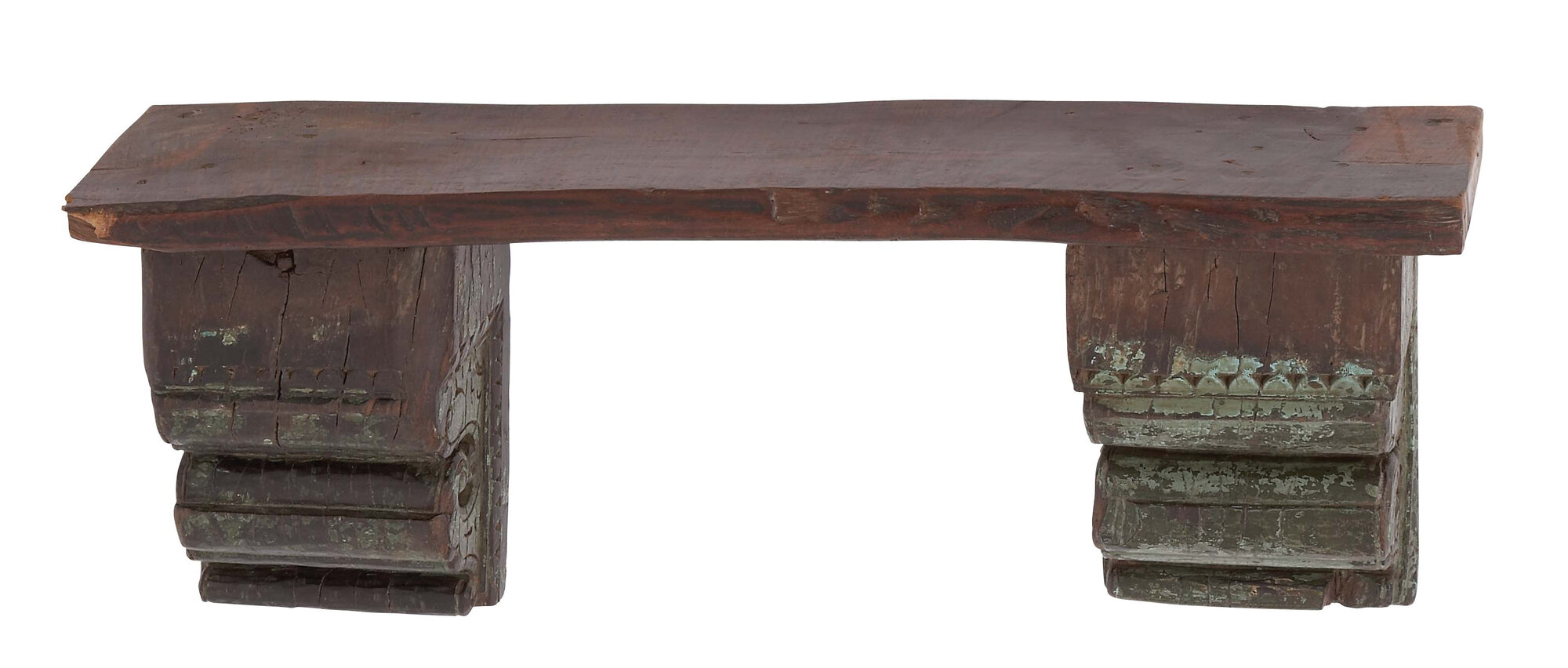 Woodland imports antique reclaimed wood wall shelf ebay for Shelves made from reclaimed wood