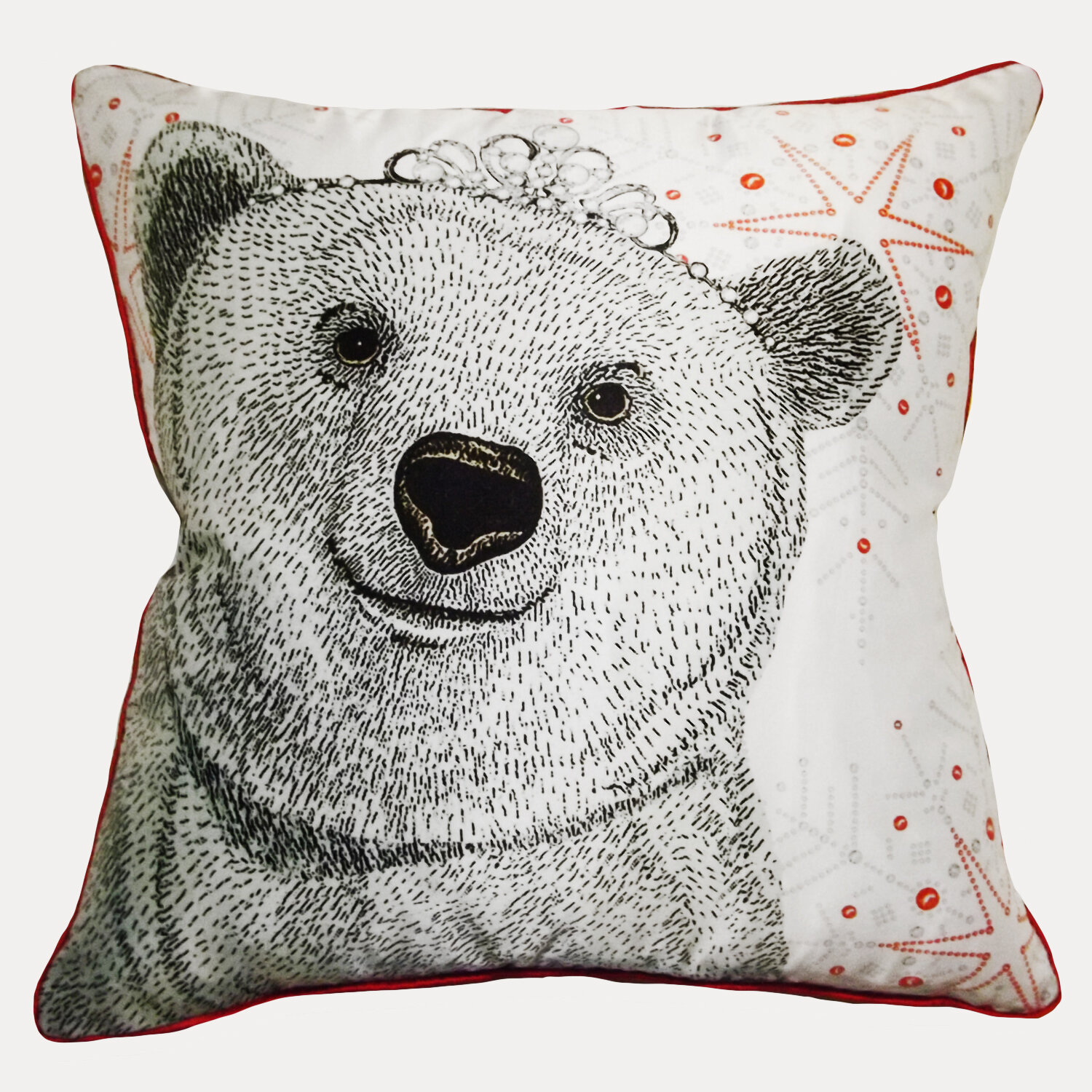 Polar Bear Throw Pillow : Filos Design Polar Bear Queen Throw Pillow