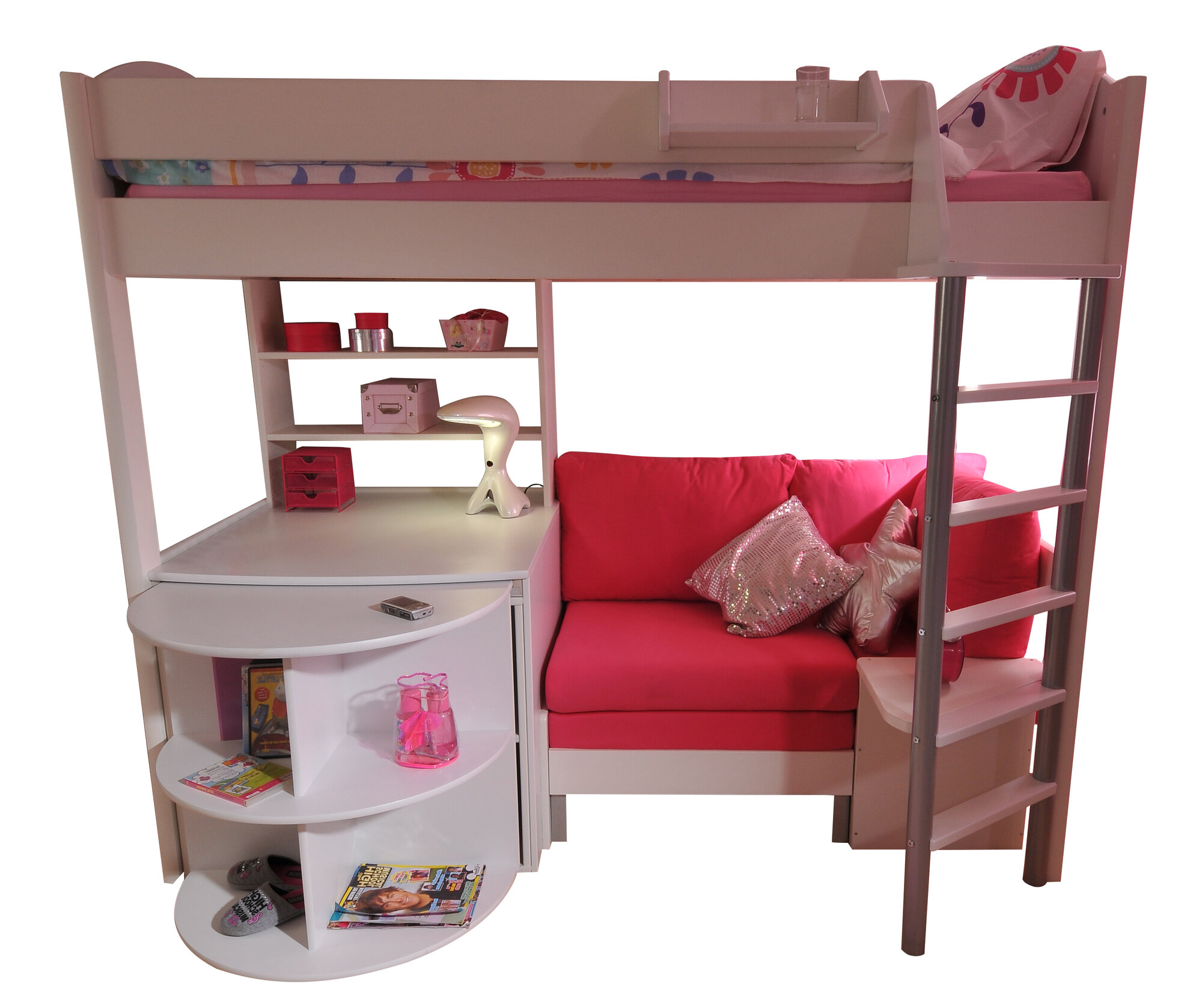 Stompa Casa Single High Sleeper Bunk Bed With Sofa Bed Desk I Ebay
