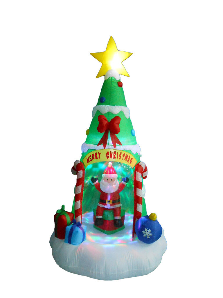 Bzb goods christmas tree with santa claus christmas for 57in led lighted peacock outdoor christmas decoration