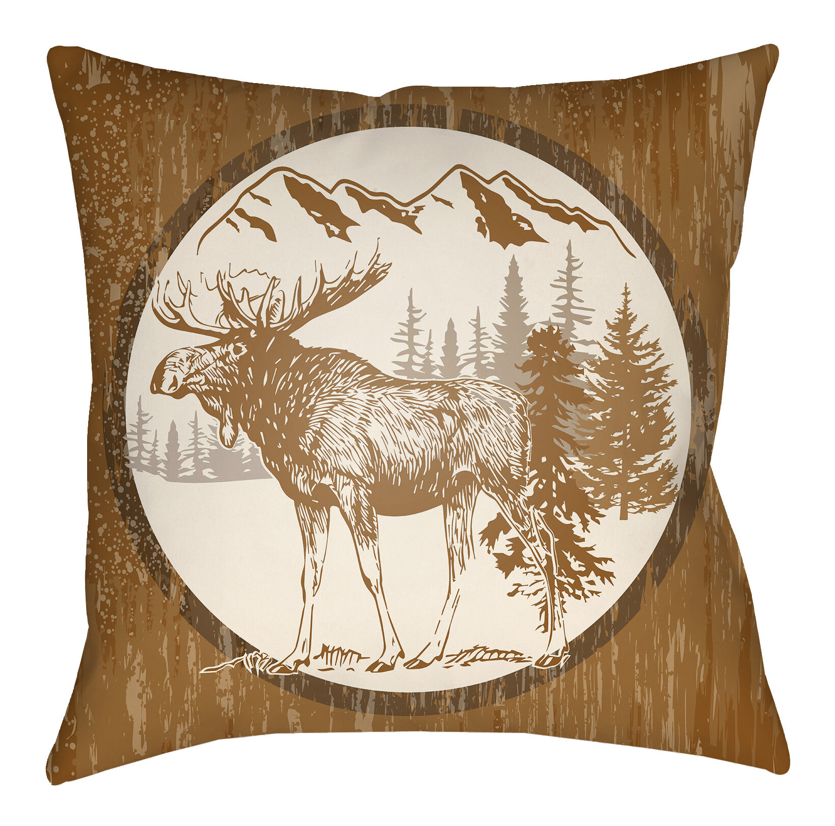 Throw Pillows Meaning : Artistic Weavers Lodge Cabin Moose Indoor/Outdoor Throw Pillow eBay