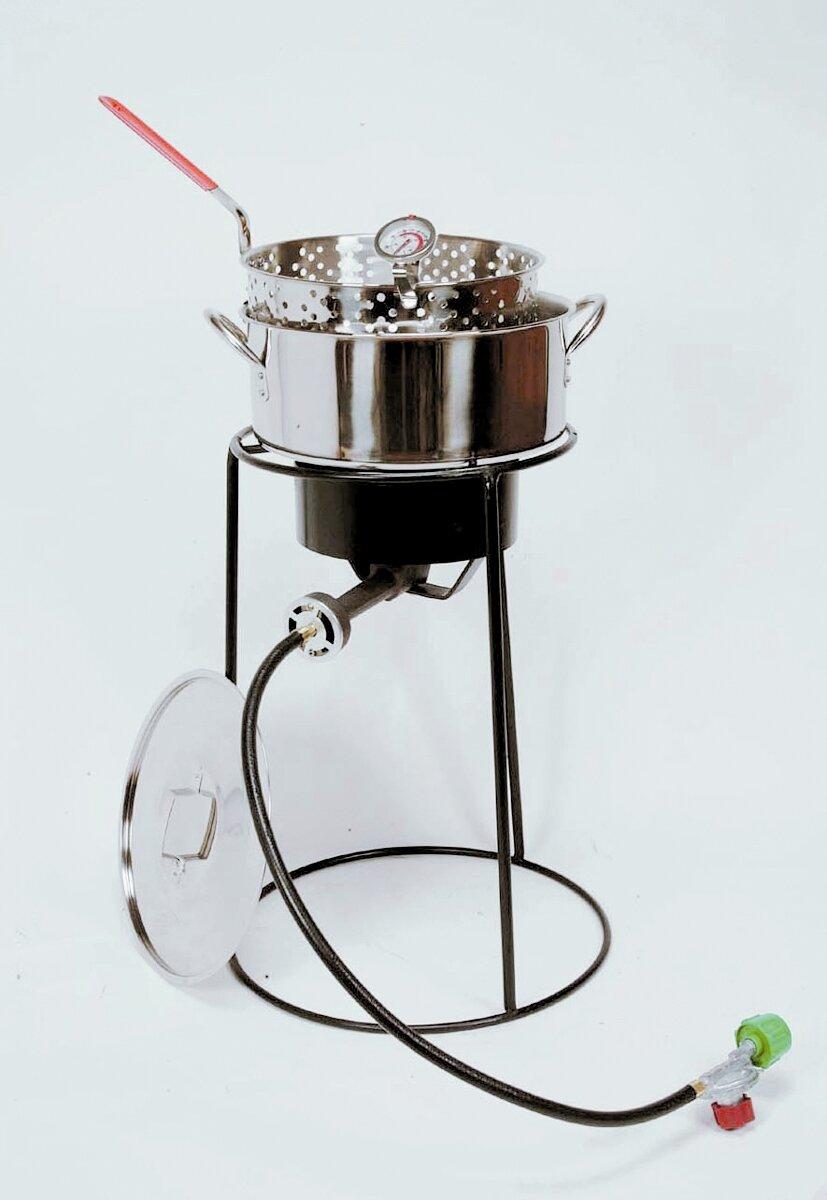King kooker outdoor cooker fish fryer package ebay for Fish fryer pot