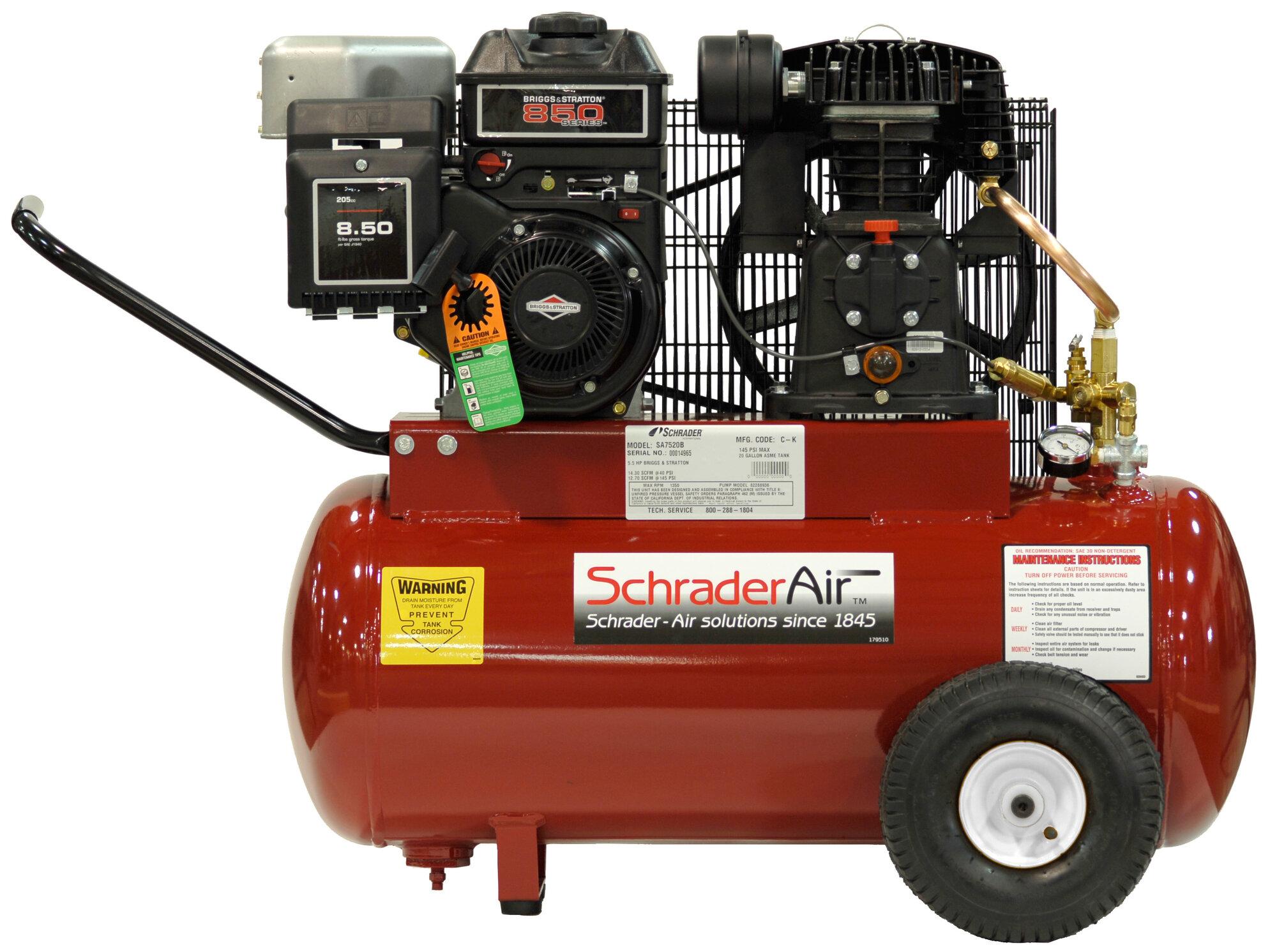 5 5 HP 20 Gallon Compressor for Contractors Gas Powered