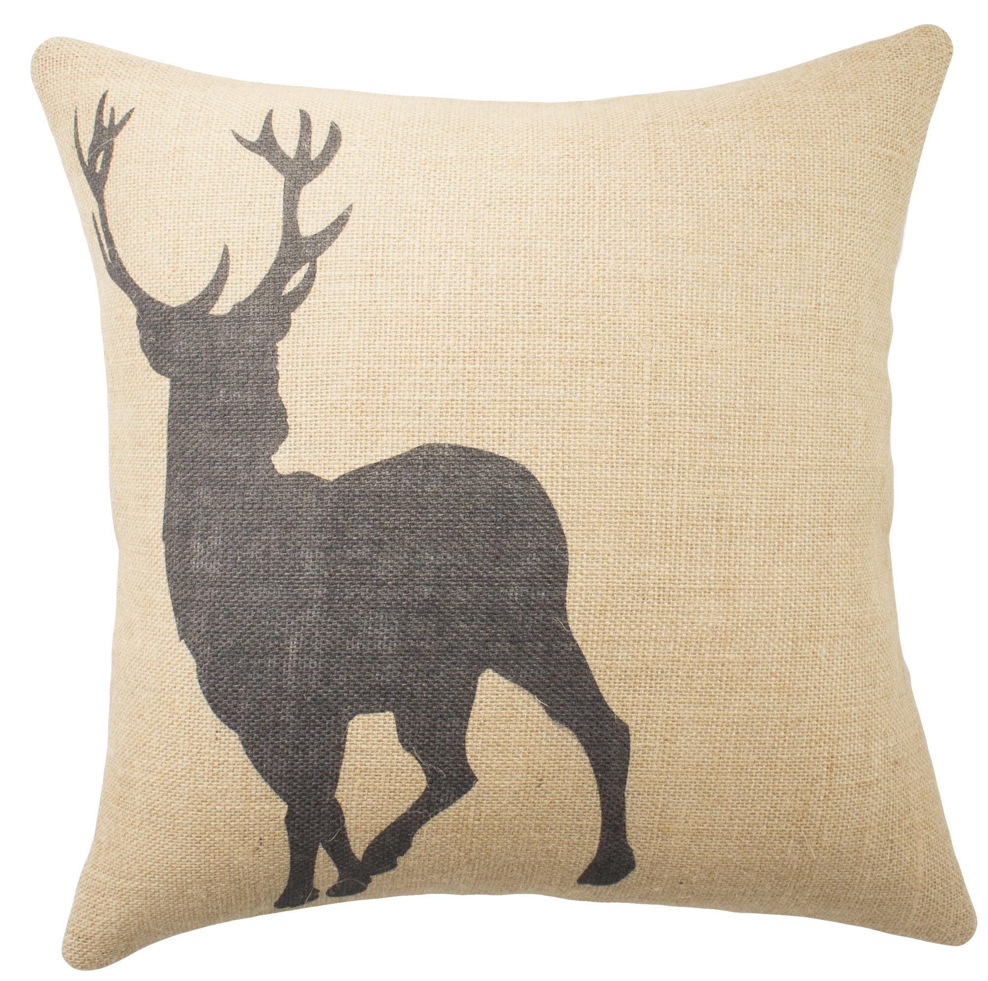 Throw Pillows Deer : TheWatsonShop Deer Burlap Throw Pillow