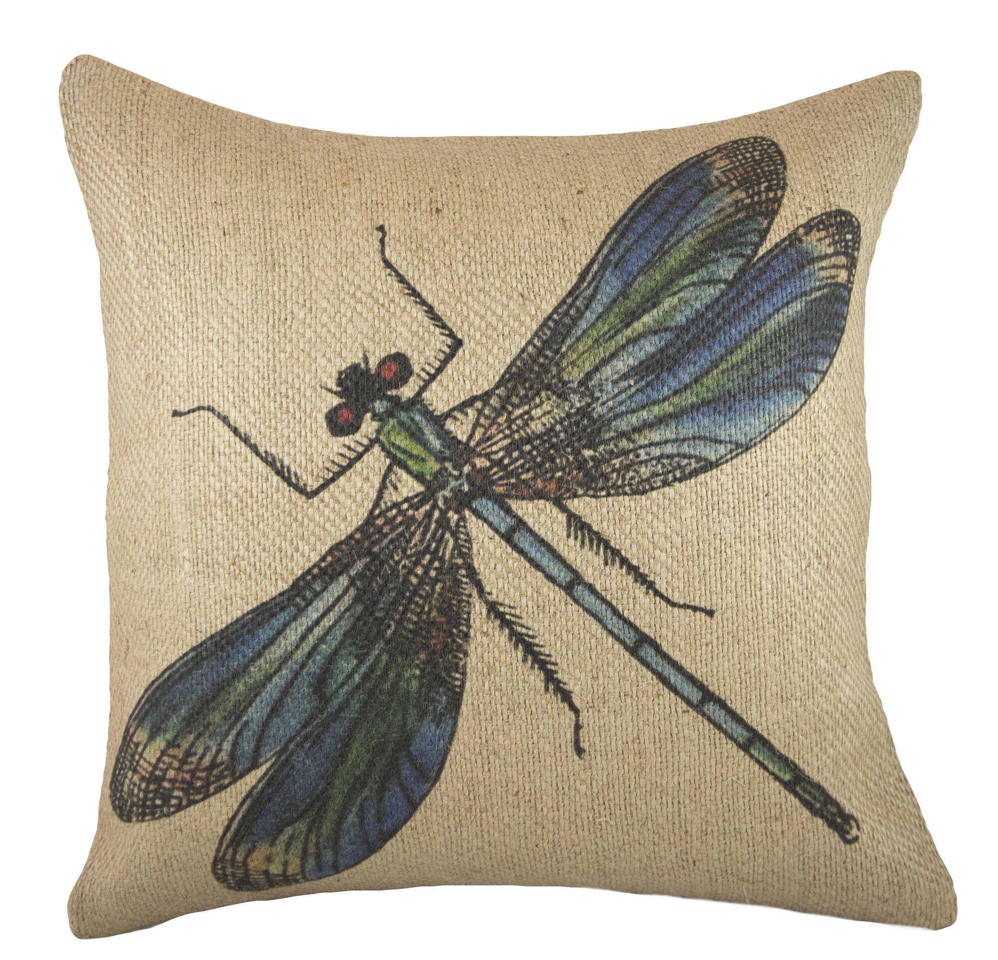 Throw Pillow With Dragonfly : TheWatsonShop Dragonfly Burlap Throw Pillow eBay