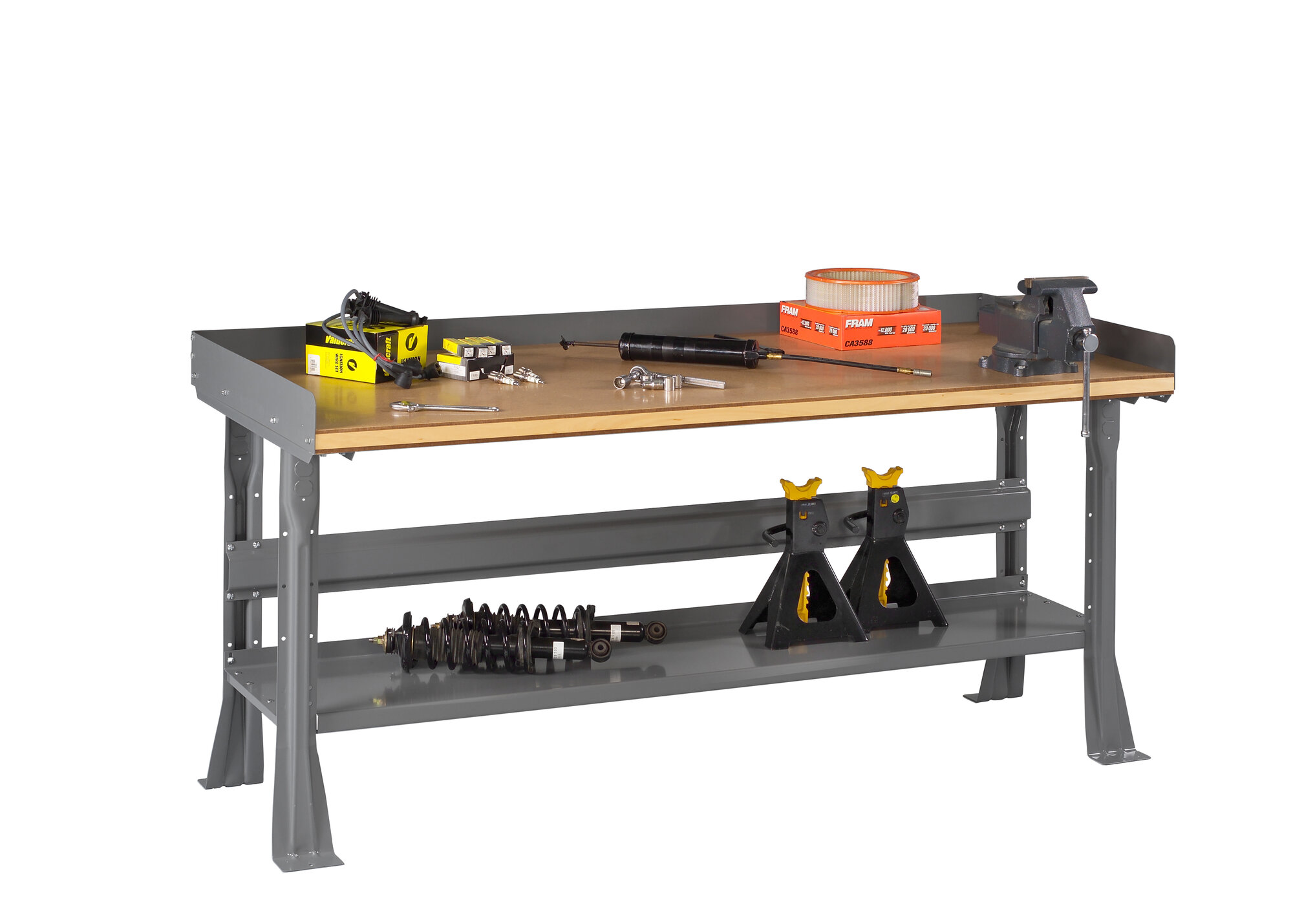Tennsco corp compressed wood top workbench ebay