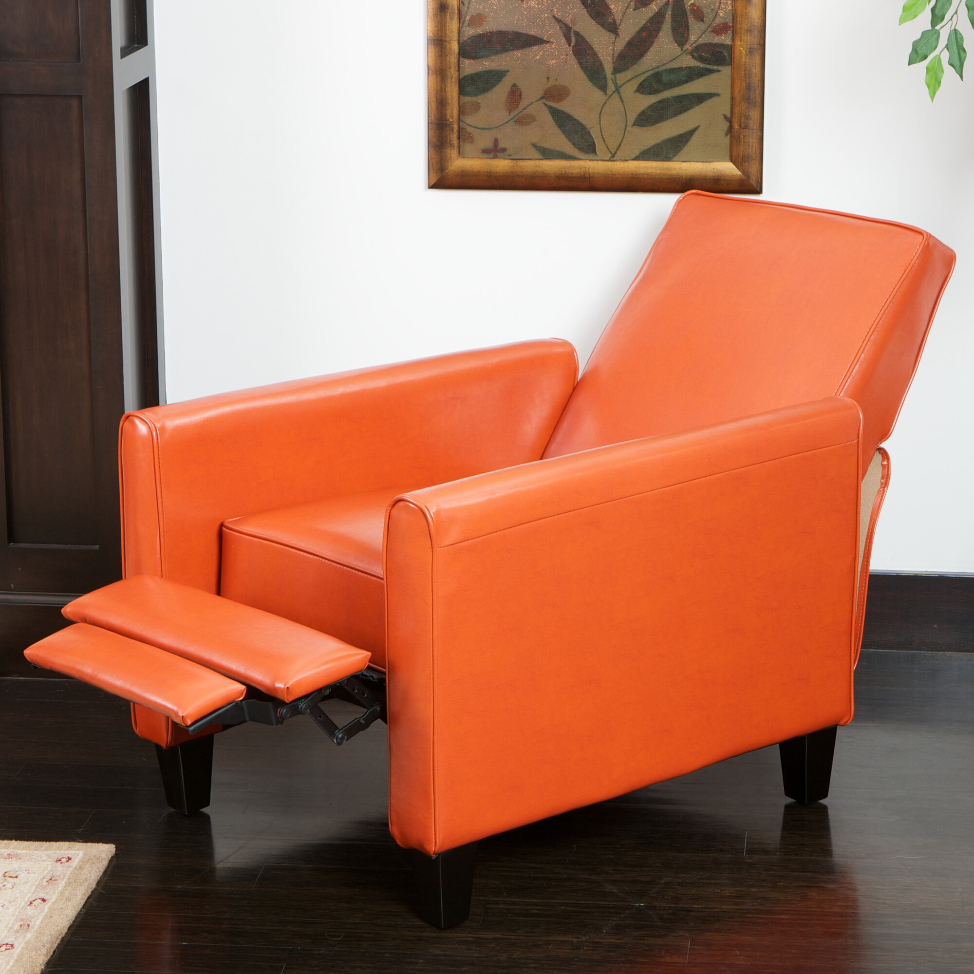 home loft concept rodgers leather recliner club chair ebay. Black Bedroom Furniture Sets. Home Design Ideas