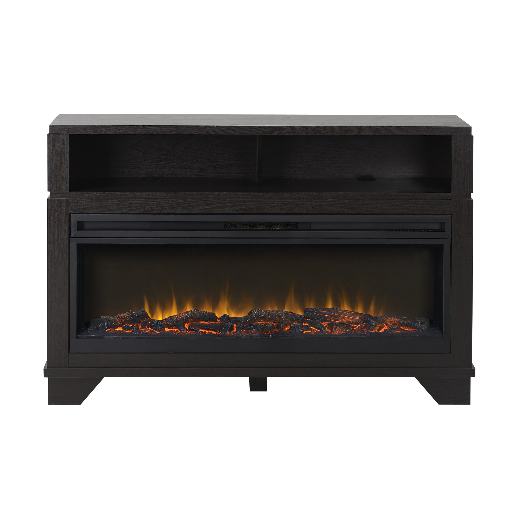 Homestar Nereto Tv Stand With Electric Fireplace Ebay