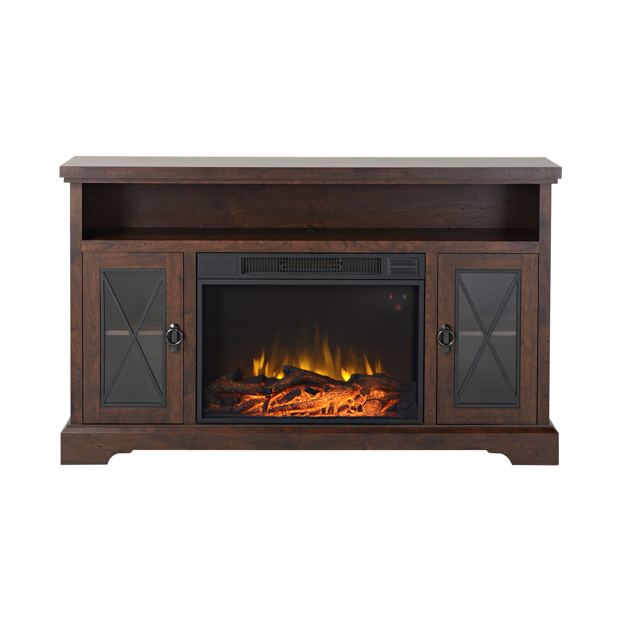 details about homestar padova tv stand with electric fireplace