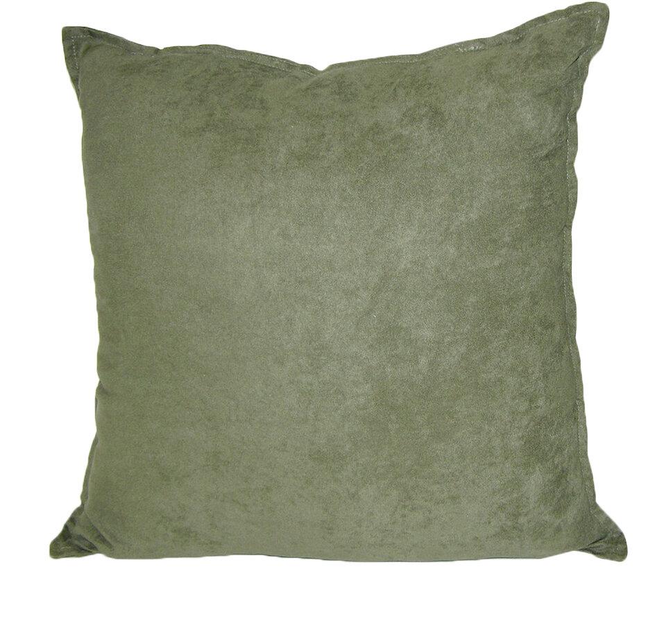Hudson Street Faux Suede Throw Pillow eBay