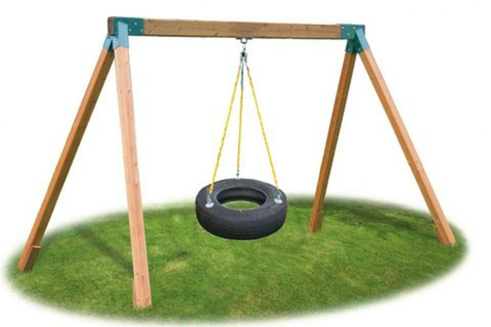 eastern jungle gym classic cedar tire swing set ebay