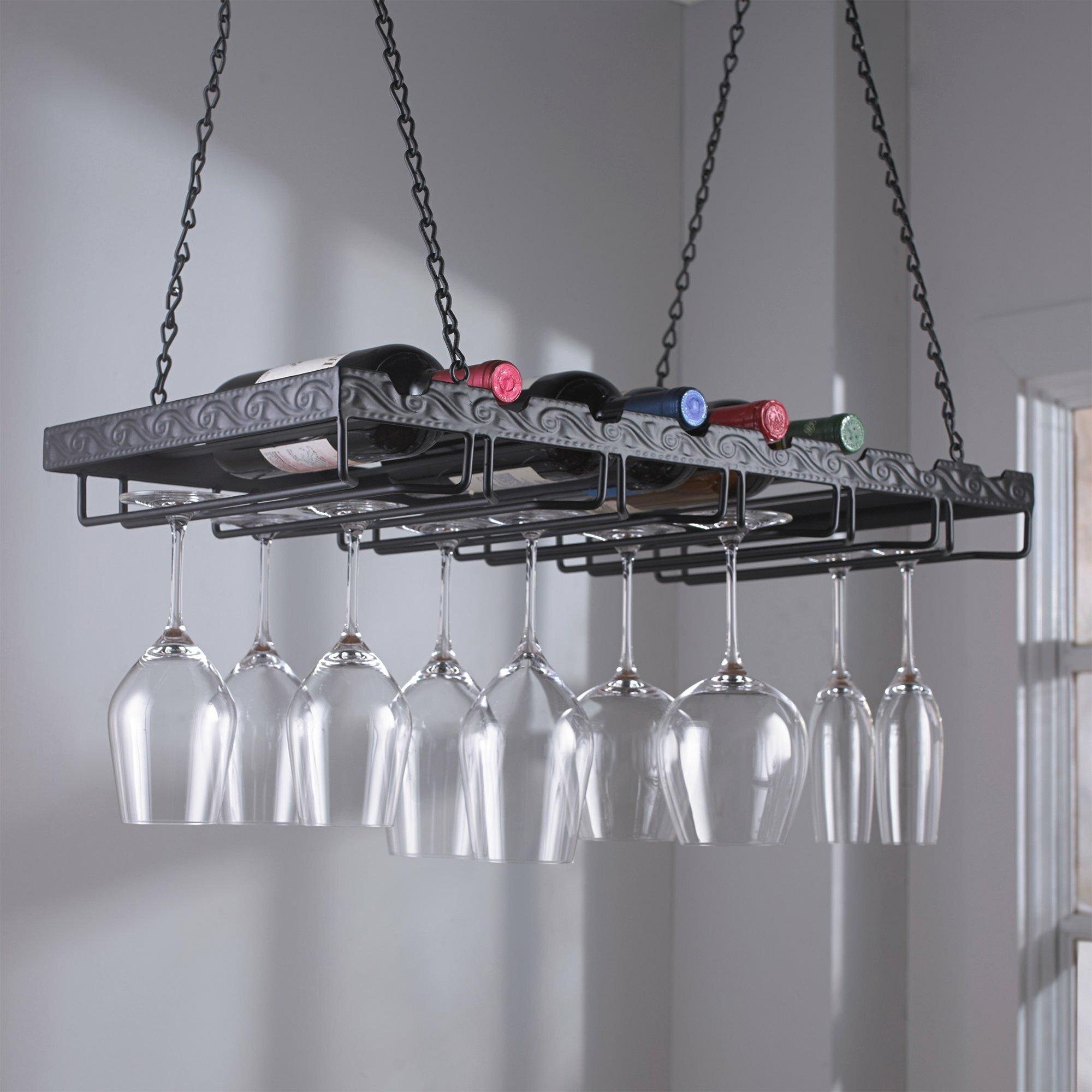 Jean Dubost Hanging Wine Glass Rack Ebay